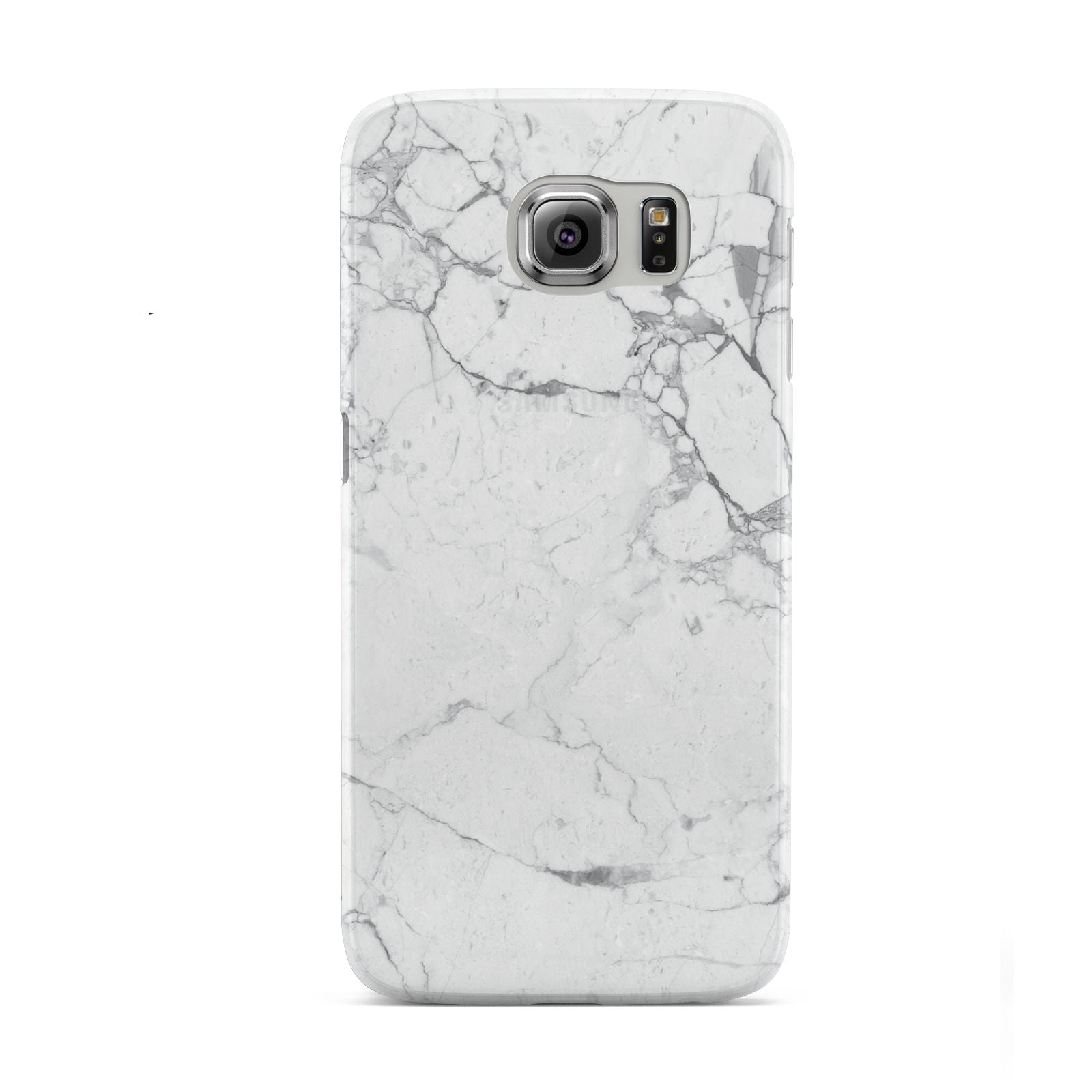 Faux Marble Effect Grey White Samsung Galaxy S6 Case
