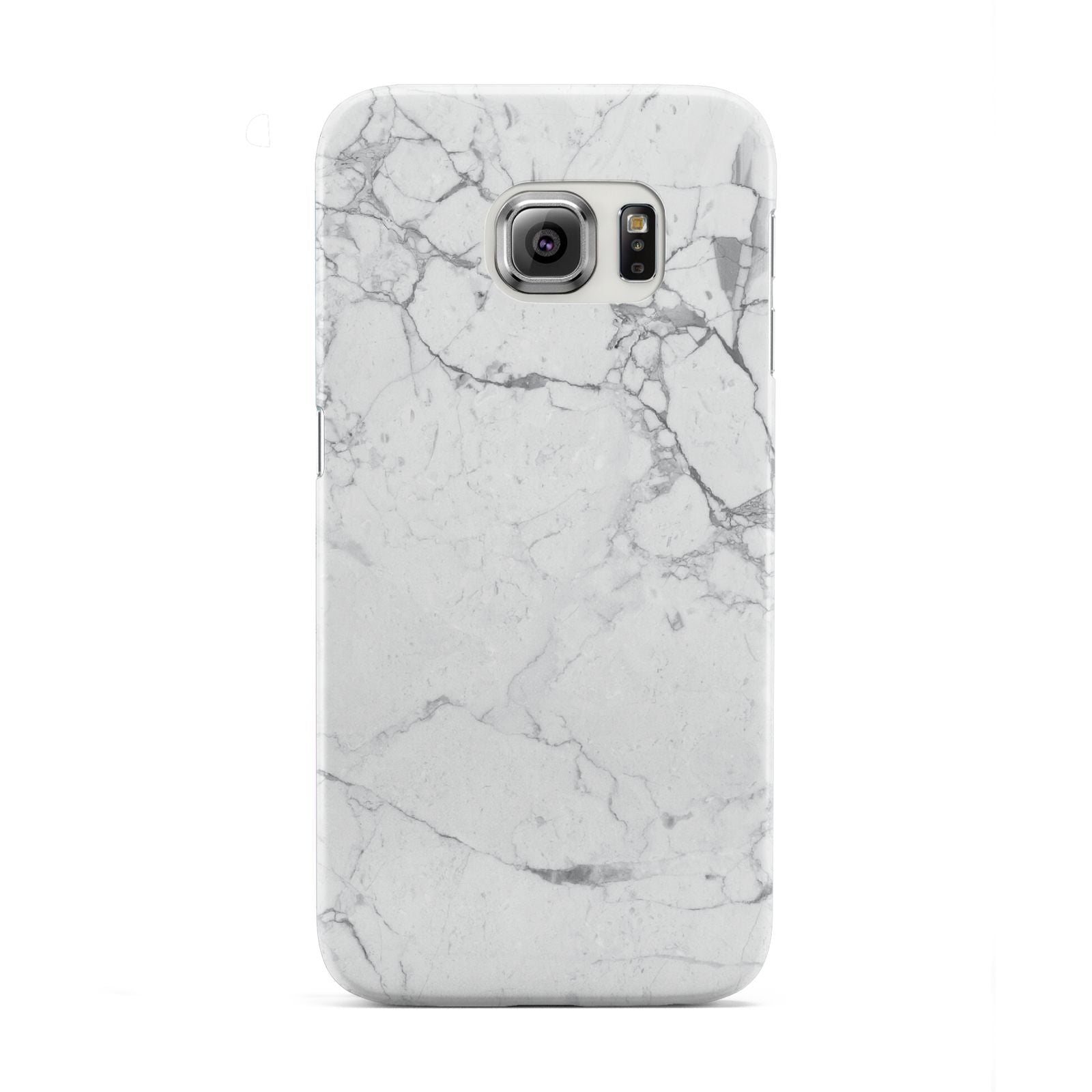 Faux Marble Effect Grey White Samsung Galaxy S6 Edge Case