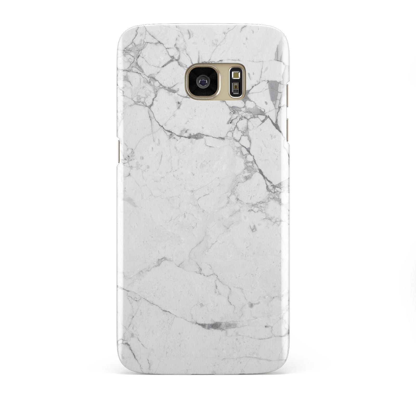 Faux Marble Effect Grey White Samsung Galaxy S7 Edge Case