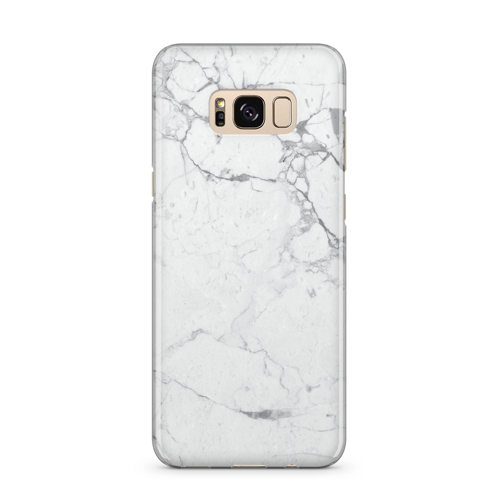 Faux Marble Effect Grey White Samsung Galaxy S8 Plus Case