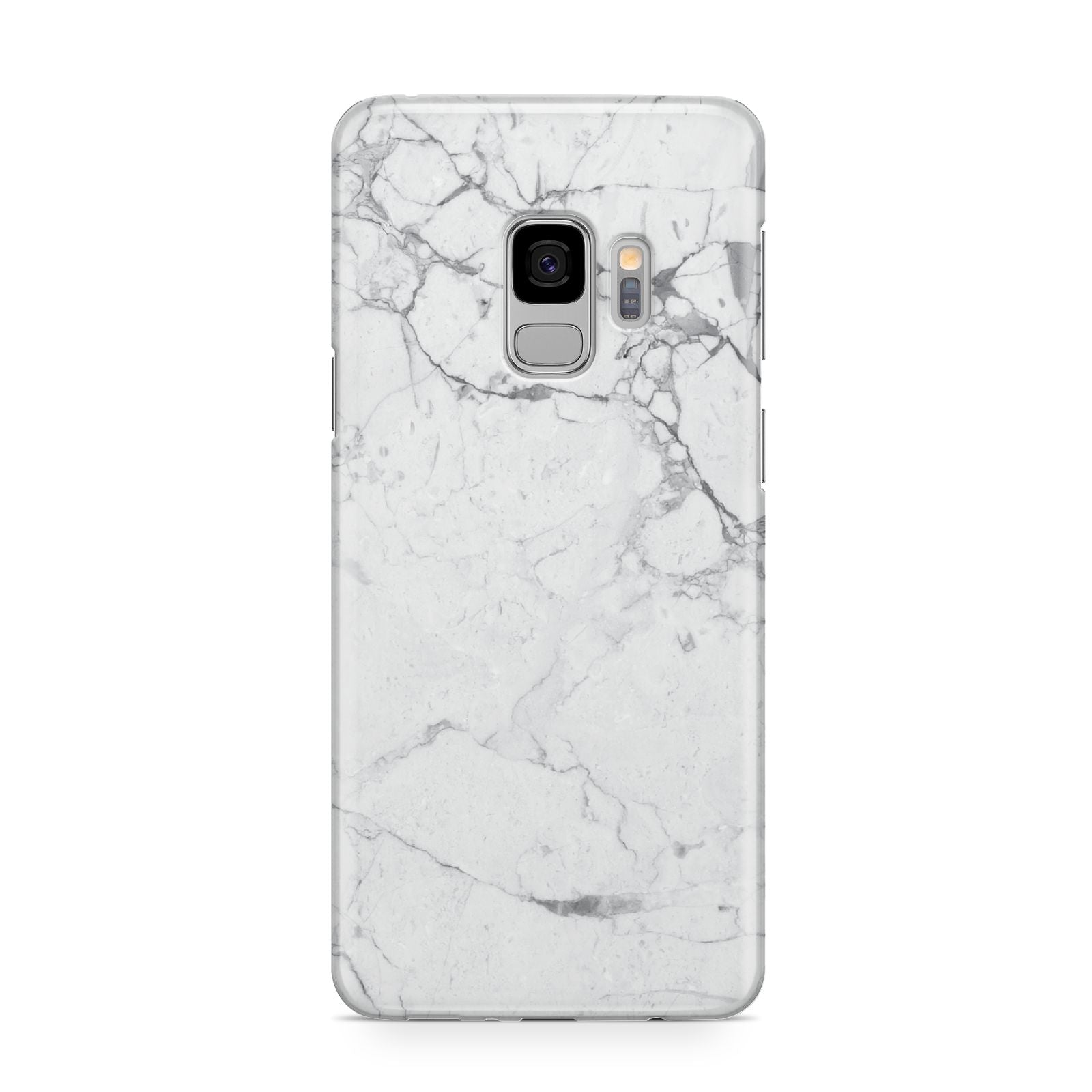 Faux Marble Effect Grey White Samsung Galaxy S9 Case