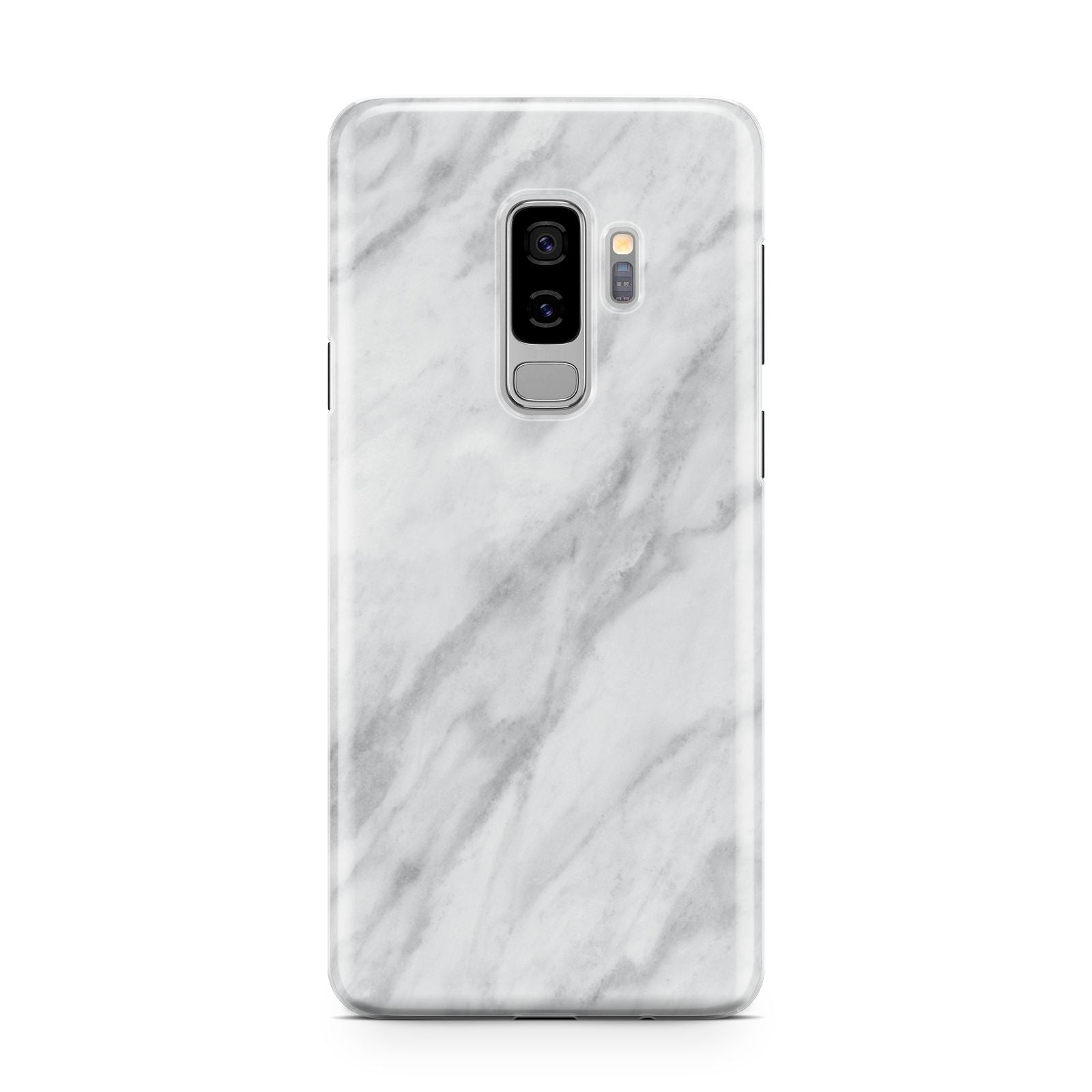 Faux Marble Effect Italian Samsung Galaxy S9 Plus Case on Silver phone