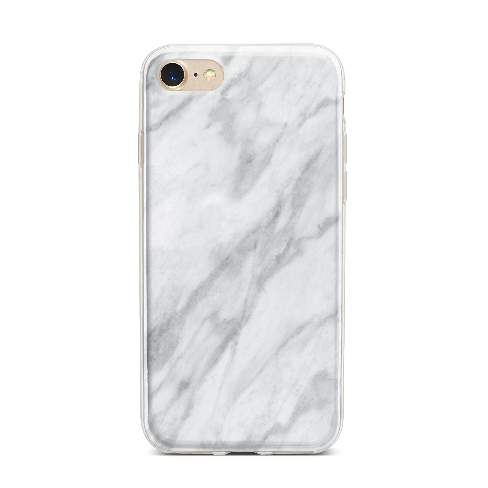 Faux Marble Effect Italian iPhone 7 Bumper Case on Gold iPhone