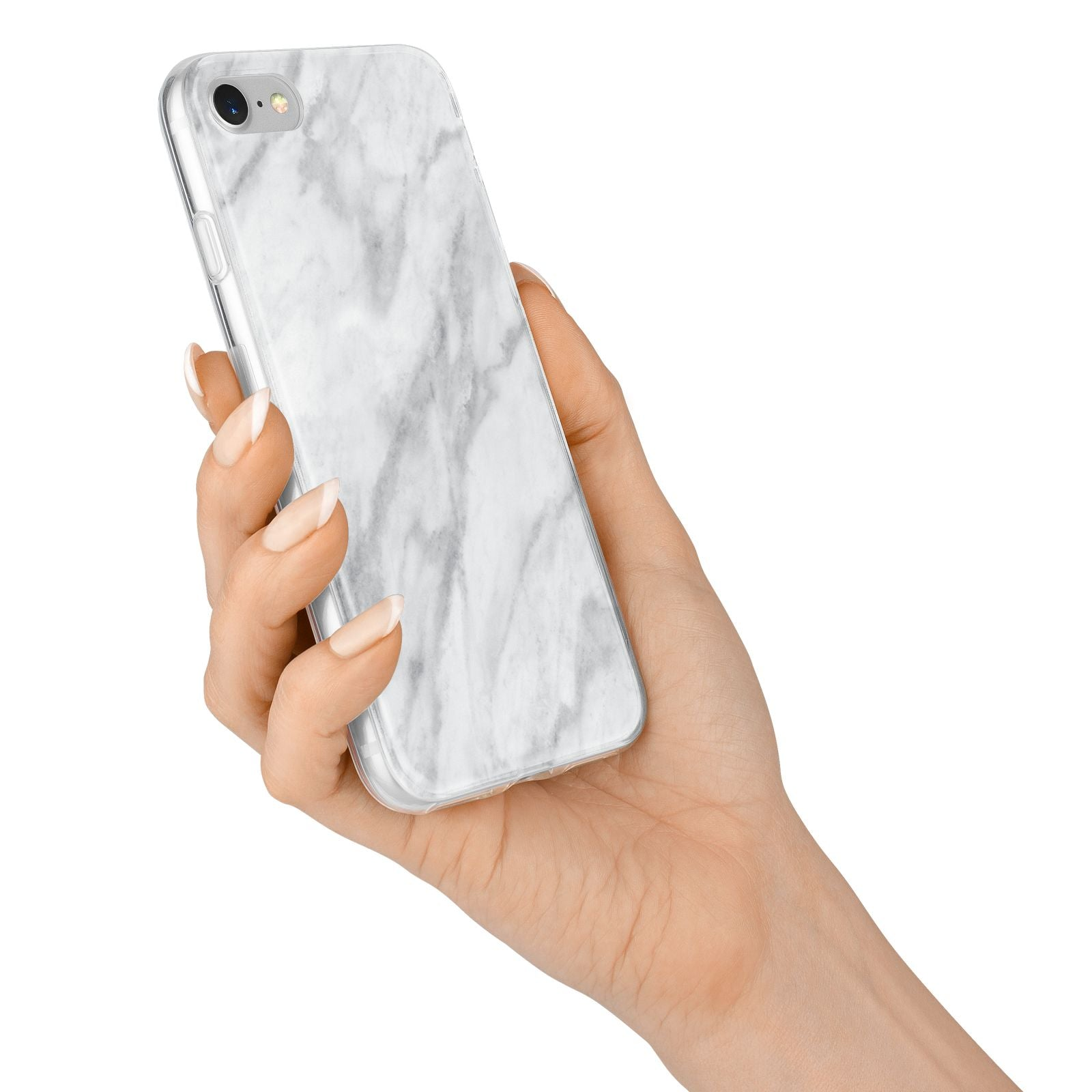 Faux Marble Effect Italian iPhone 7 Bumper Case on Silver iPhone Alternative Image
