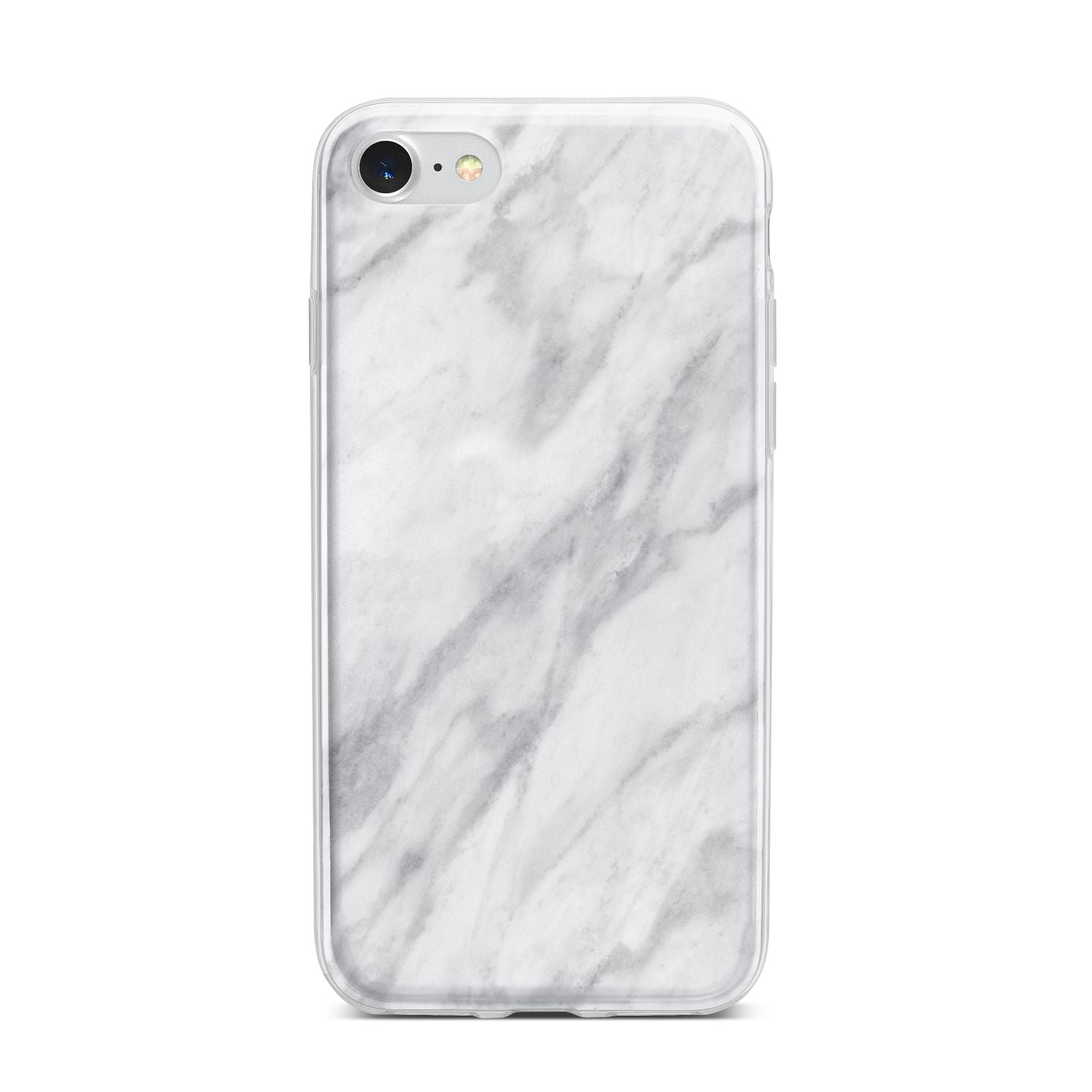 Faux Marble Effect Italian iPhone 7 Bumper Case on Silver iPhone