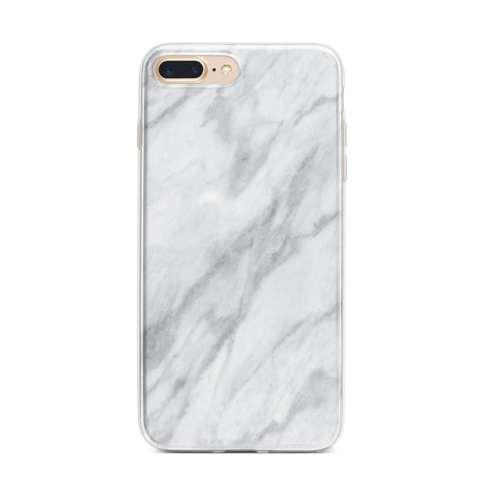 Faux Marble Effect Italian iPhone 7 Plus Bumper Case on Gold iPhone