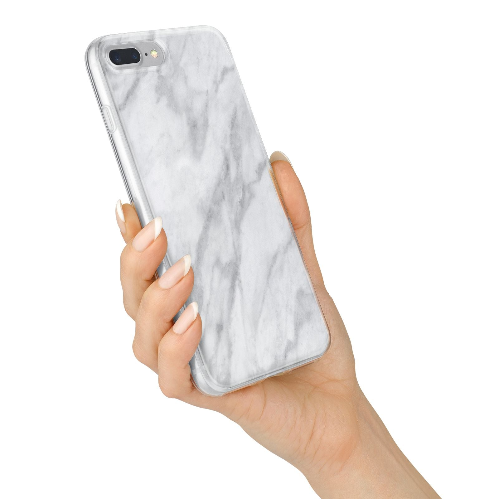 Faux Marble Effect Italian iPhone 7 Plus Bumper Case on Silver iPhone Alternative Image