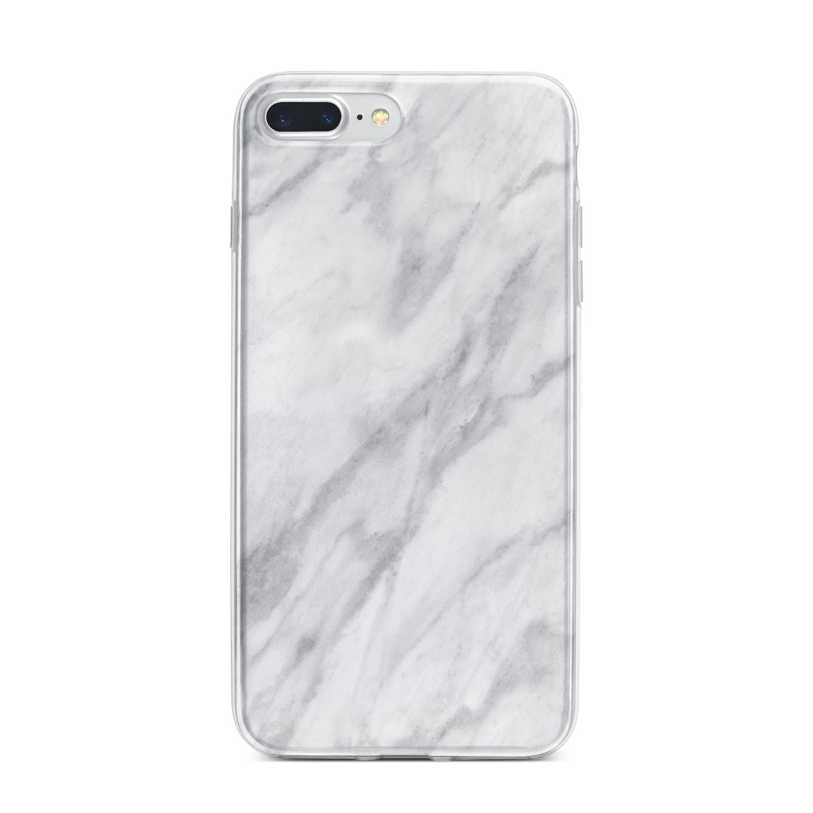 Faux Marble Effect Italian iPhone 7 Plus Bumper Case on Silver iPhone