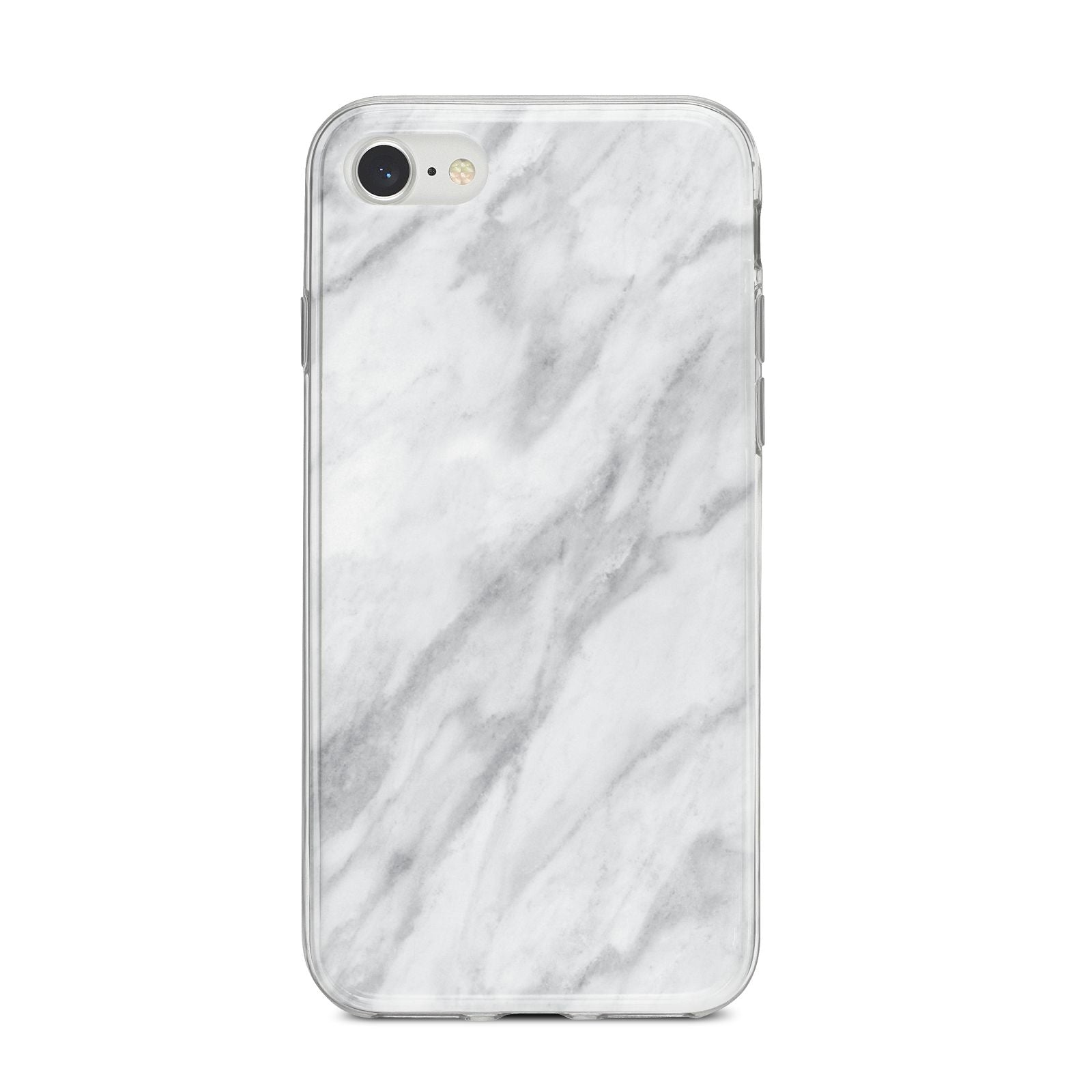 Faux Marble Effect Italian iPhone 8 Bumper Case on Silver iPhone