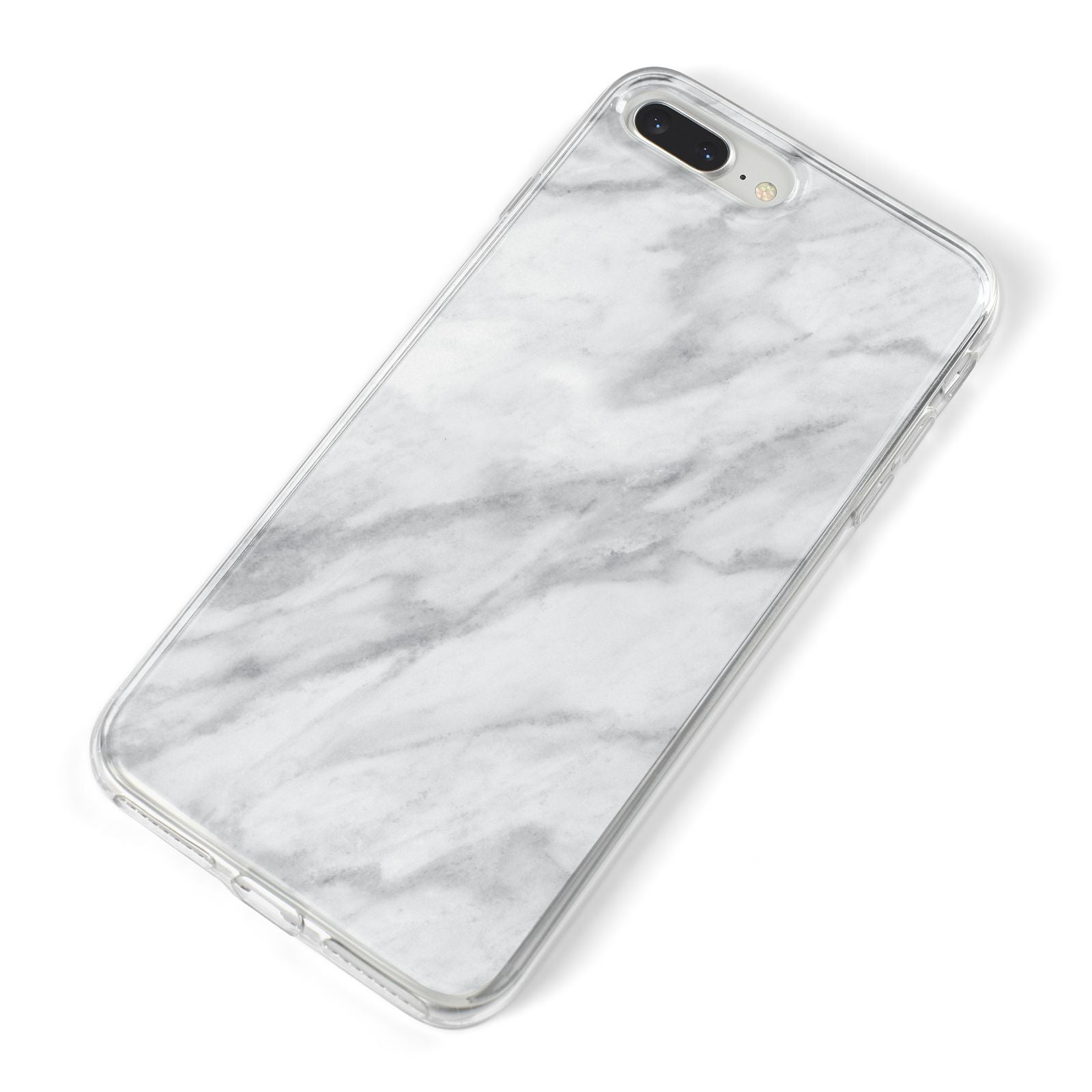 Faux Marble Effect Italian iPhone 8 Plus Bumper Case on Silver iPhone Alternative Image