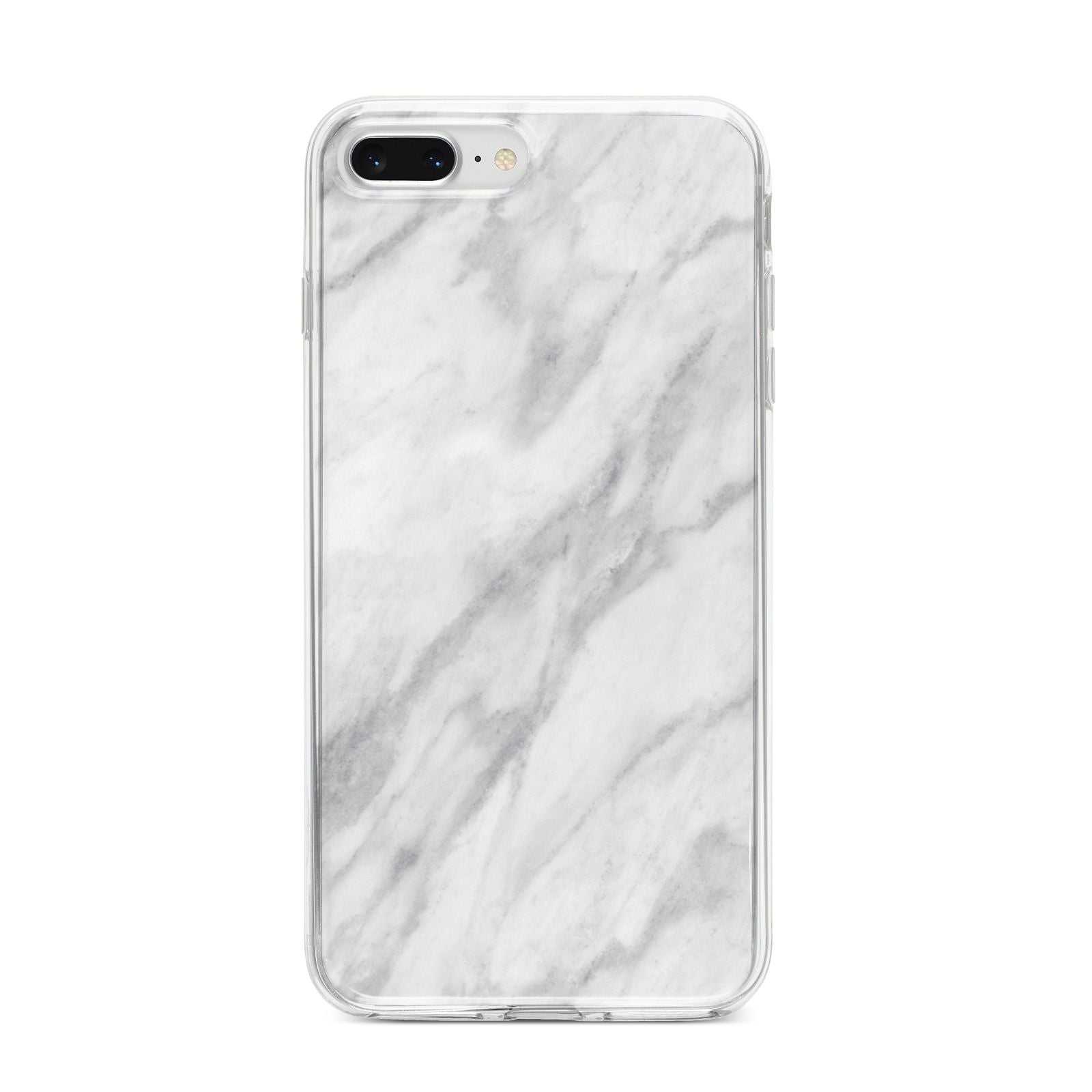 Faux Marble Effect Italian iPhone 8 Plus Bumper Case on Silver iPhone