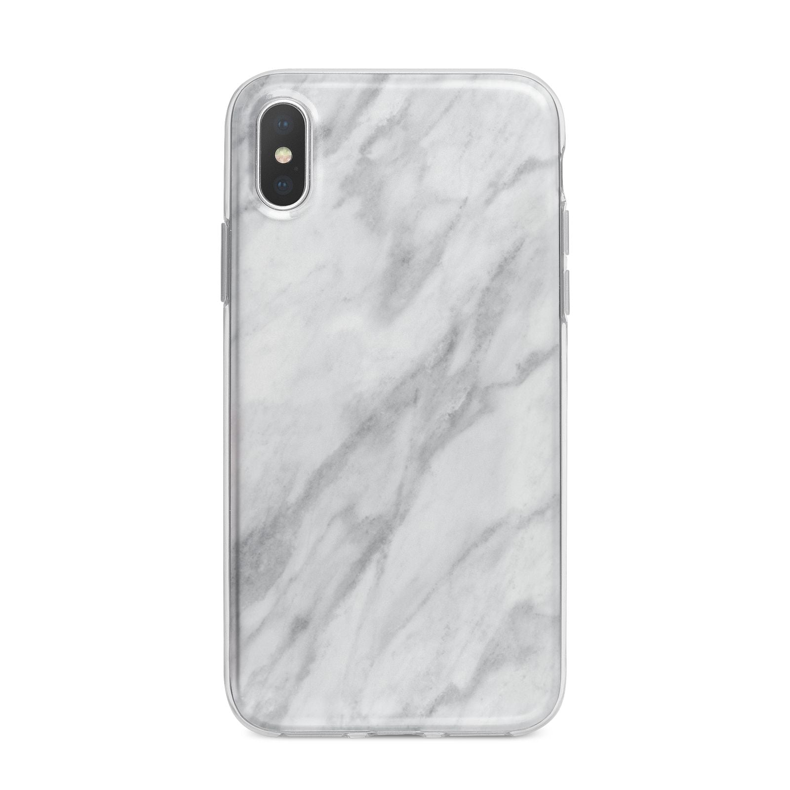 Faux Marble Effect Italian iPhone X Bumper Case on Silver iPhone Alternative Image 1