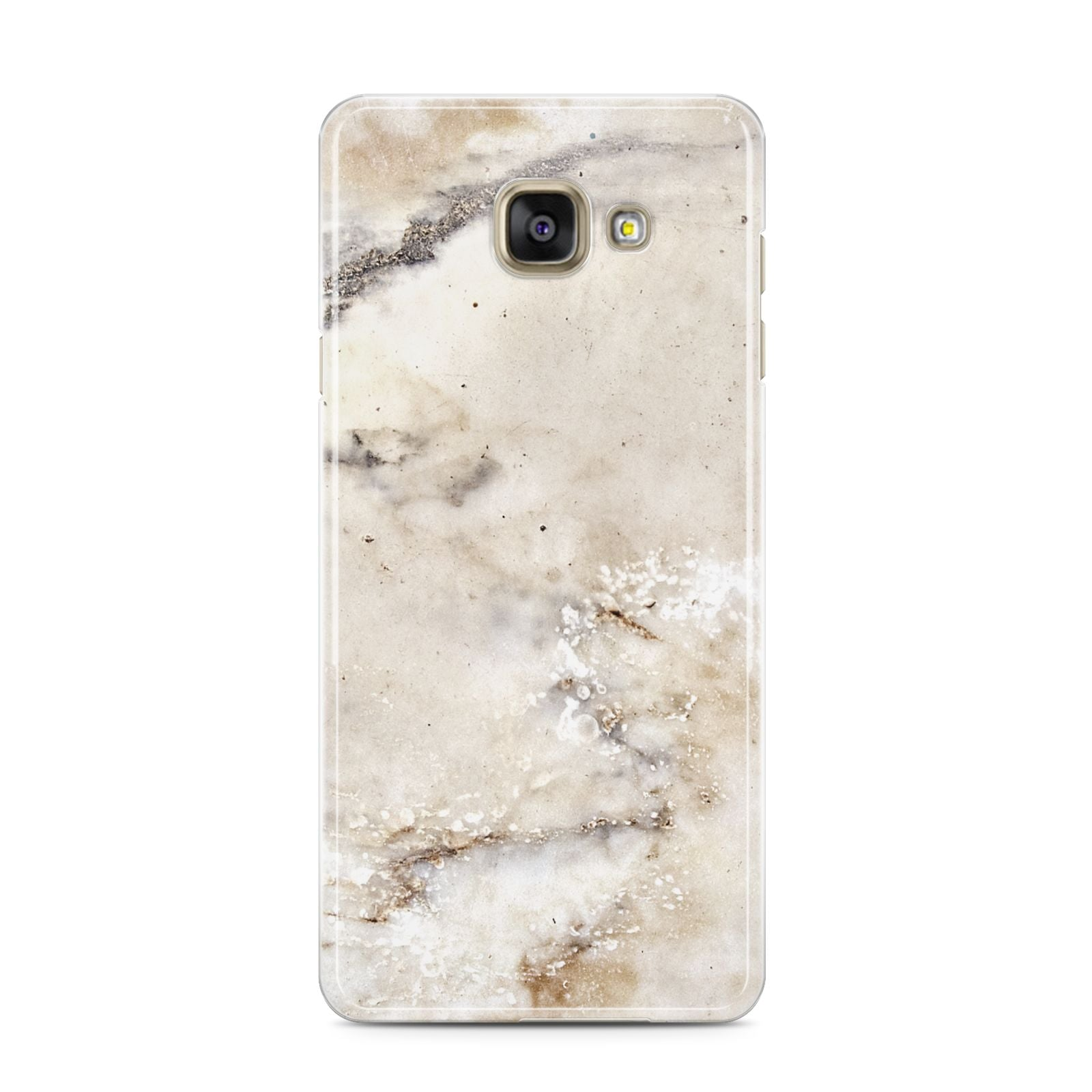 Faux Marble Effect Print Samsung Galaxy A3 2016 Case on gold phone
