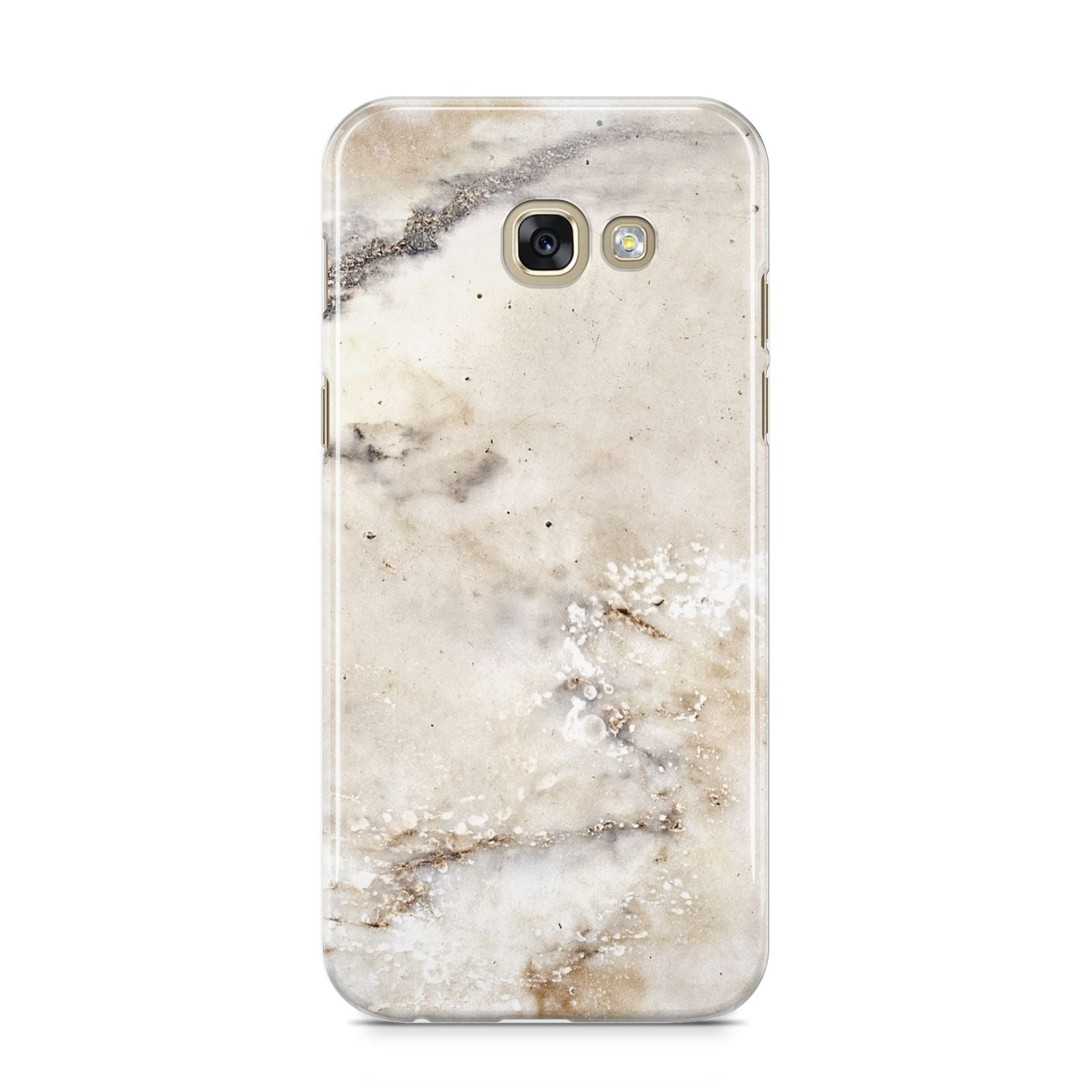 Faux Marble Effect Print Samsung Galaxy A5 2017 Case on gold phone