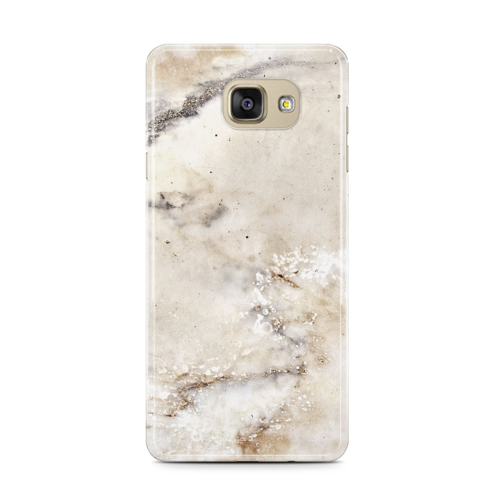 Faux Marble Effect Print Samsung Galaxy A7 2016 Case on gold phone