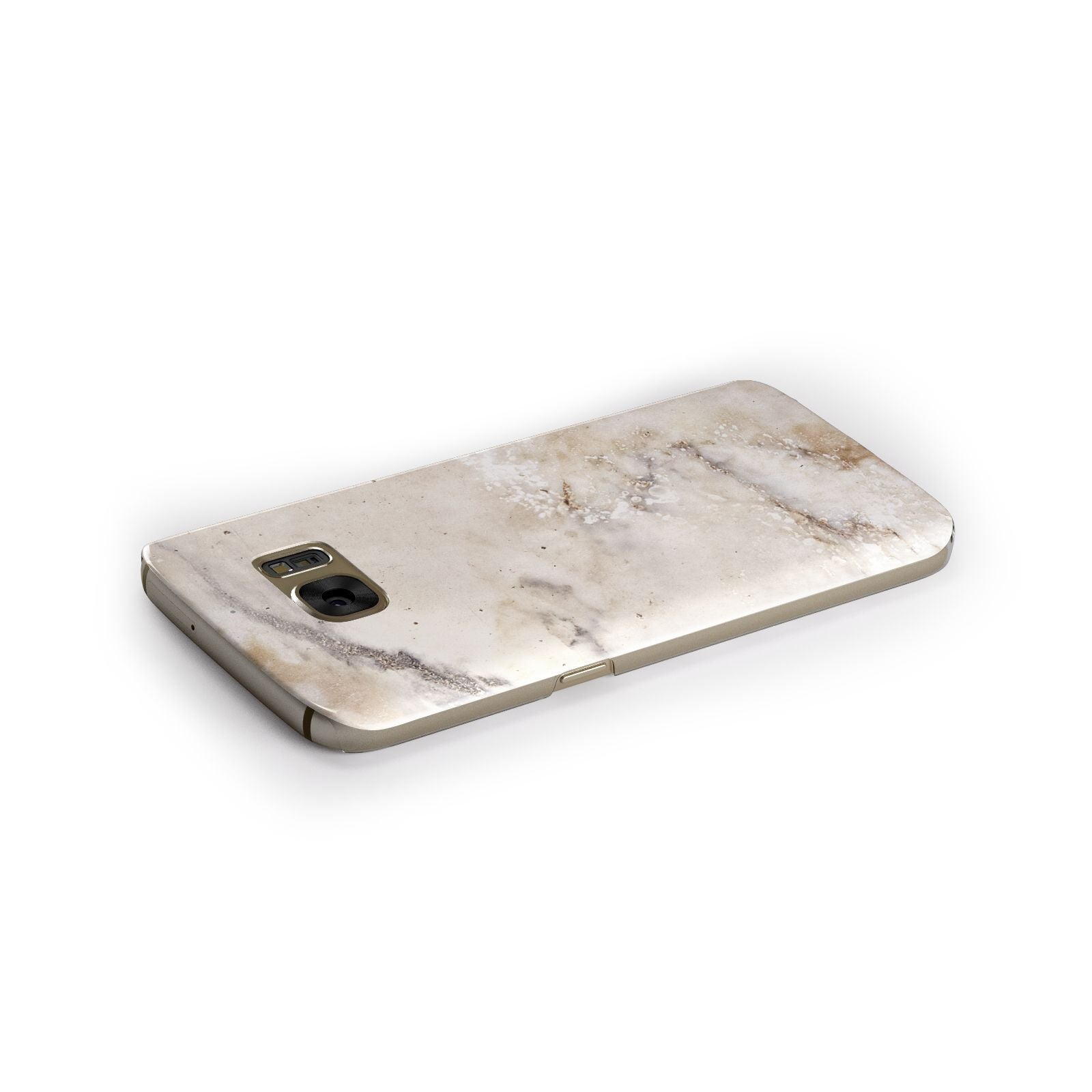 Faux Marble Effect Print Samsung Galaxy Case Side Close Up