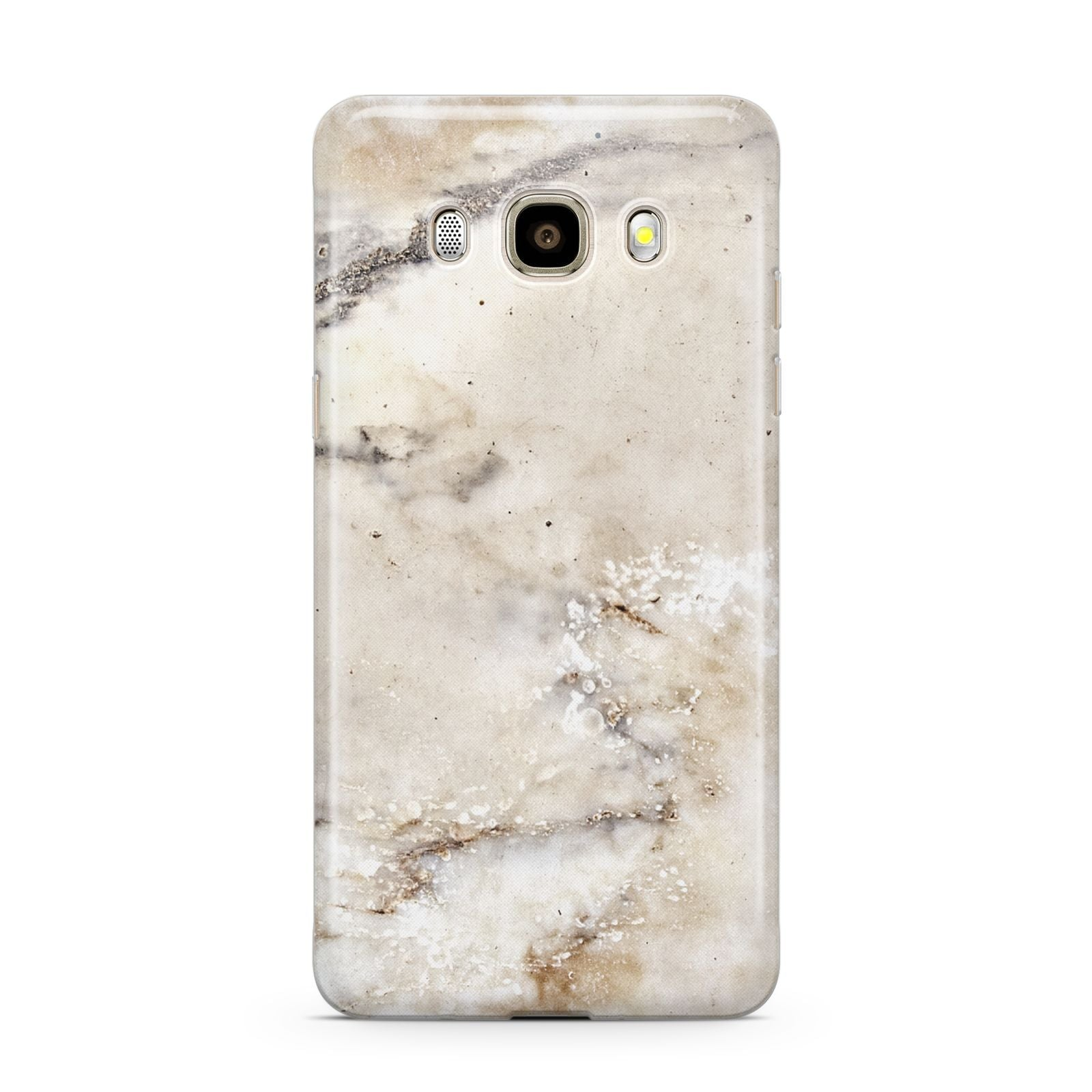 Faux Marble Effect Print Samsung Galaxy J7 2016 Case on gold phone
