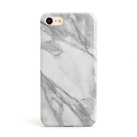 Faux Marble Effect White Grey Apple iPhone Case