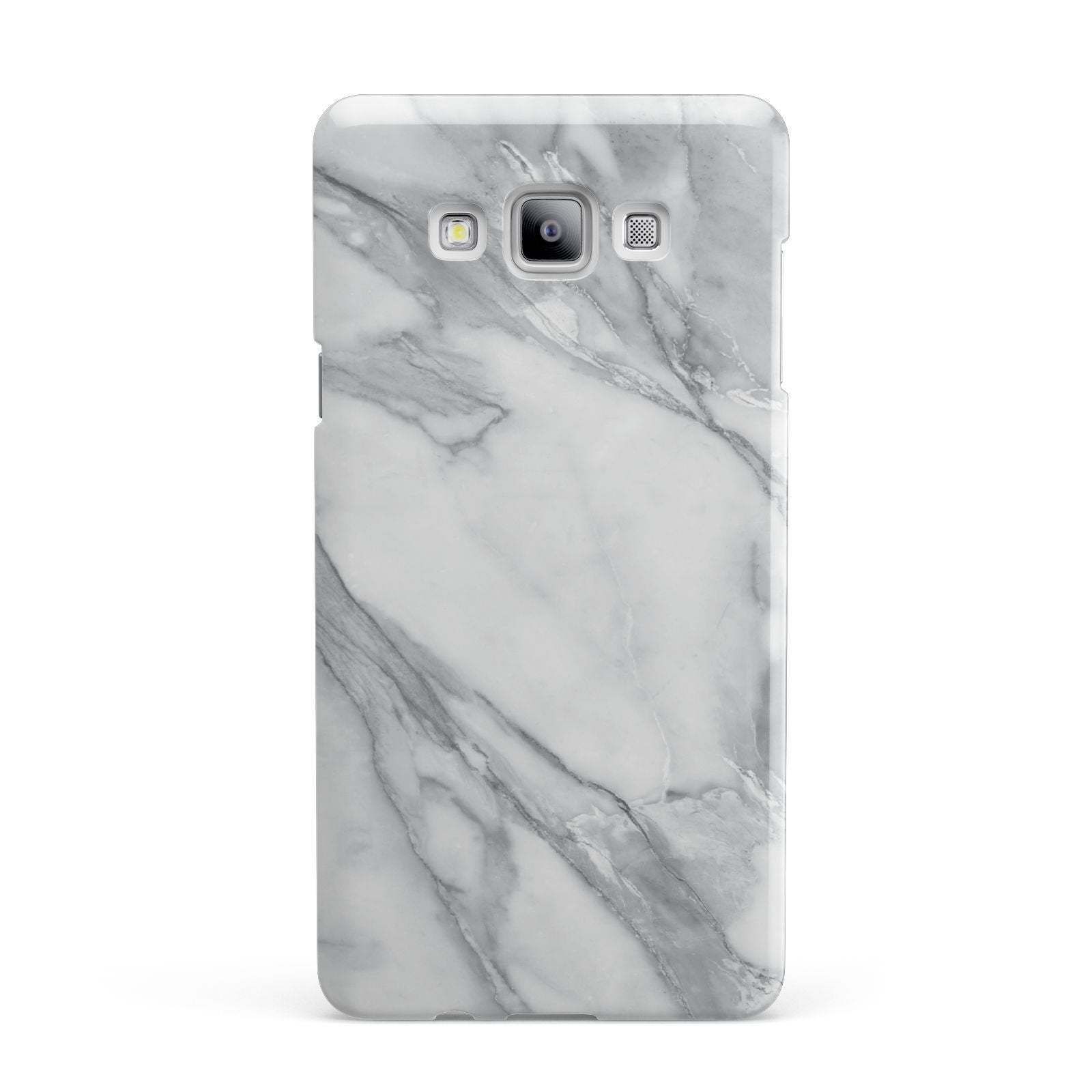 Faux Marble Effect White Grey Samsung Galaxy A7 2015 Case