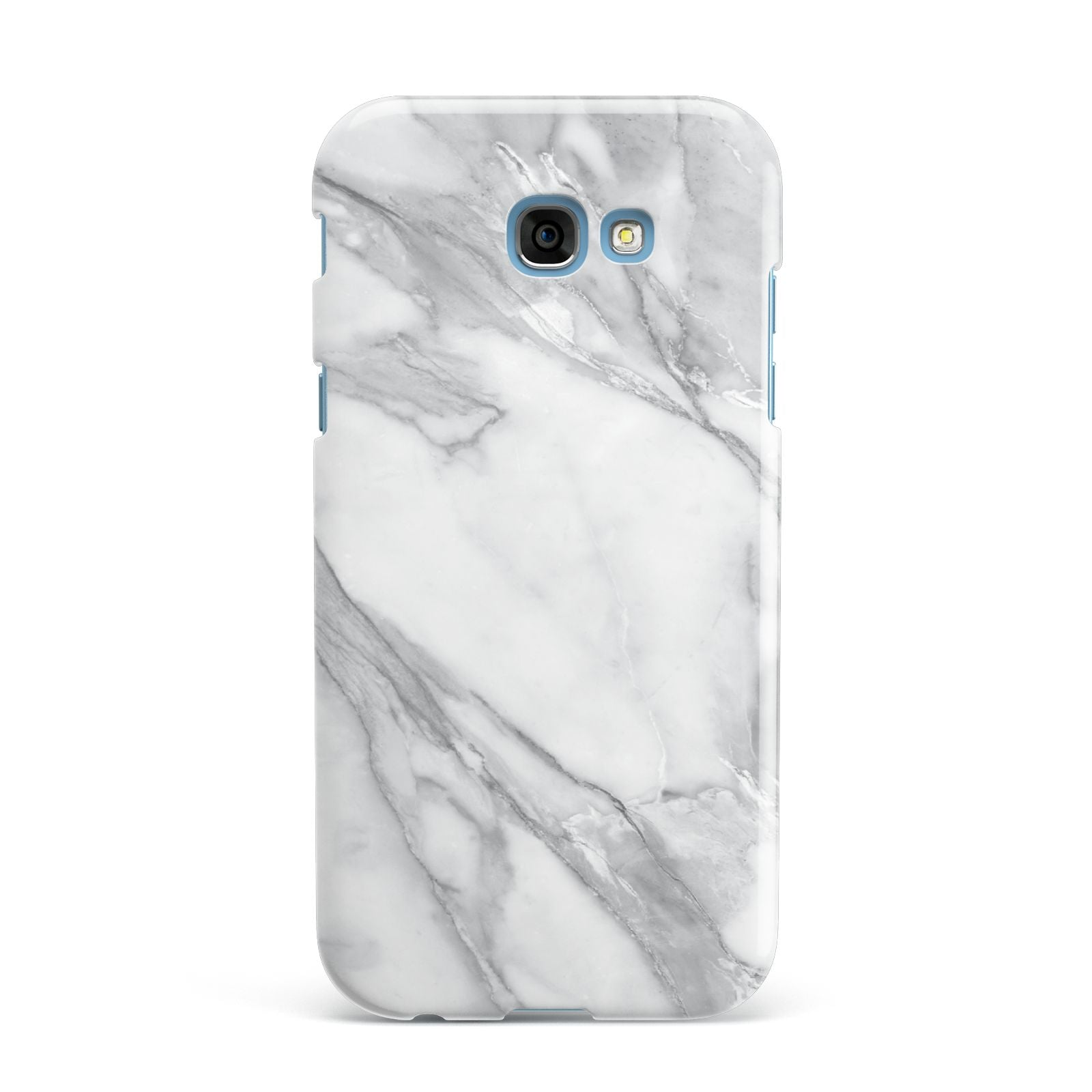 Faux Marble Effect White Grey Samsung Galaxy A7 2017 Case