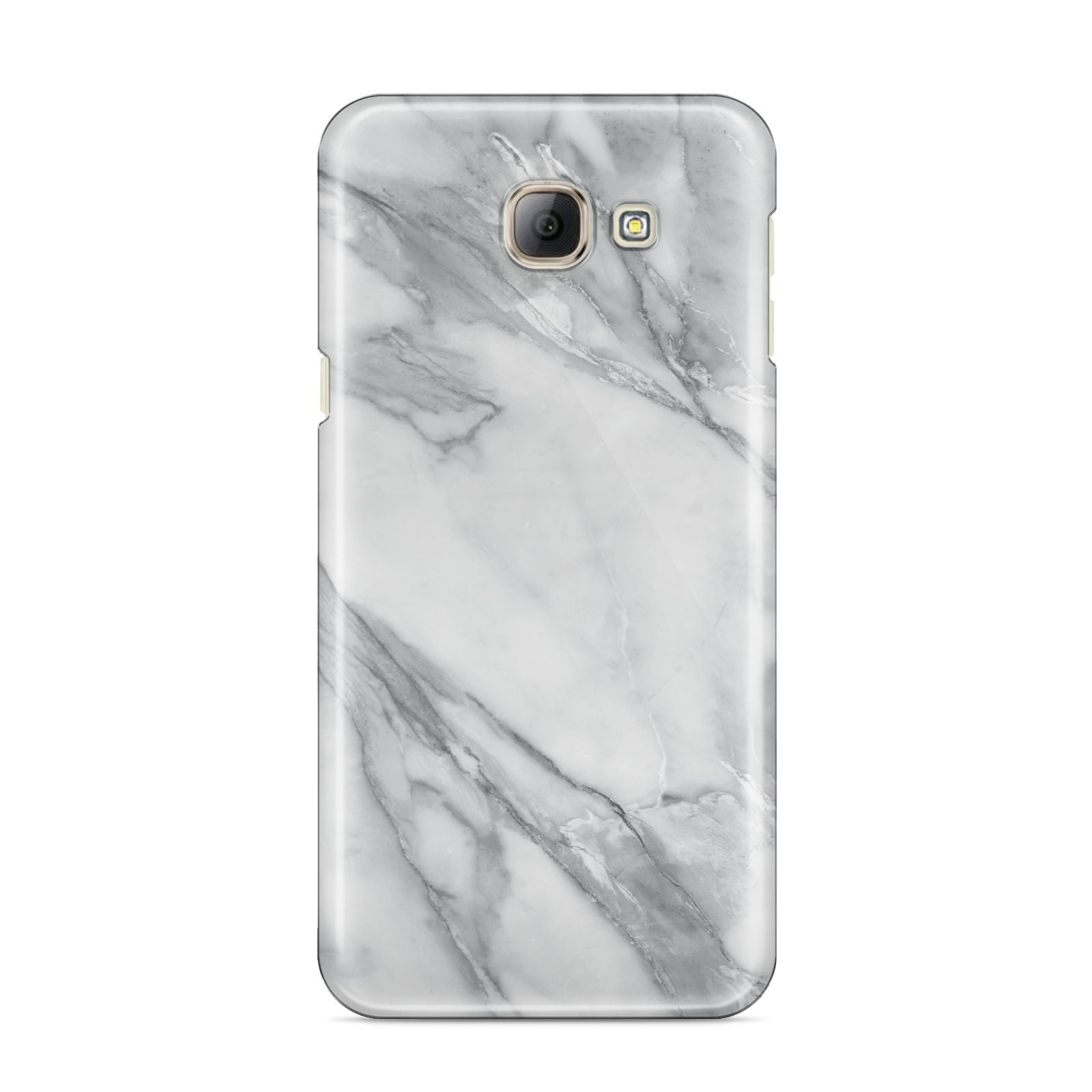 Faux Marble Effect White Grey Samsung Galaxy A8 2016 Case