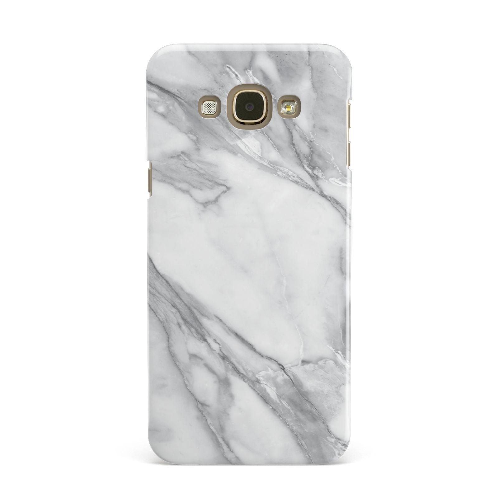 Faux Marble Effect White Grey Samsung Galaxy A8 Case