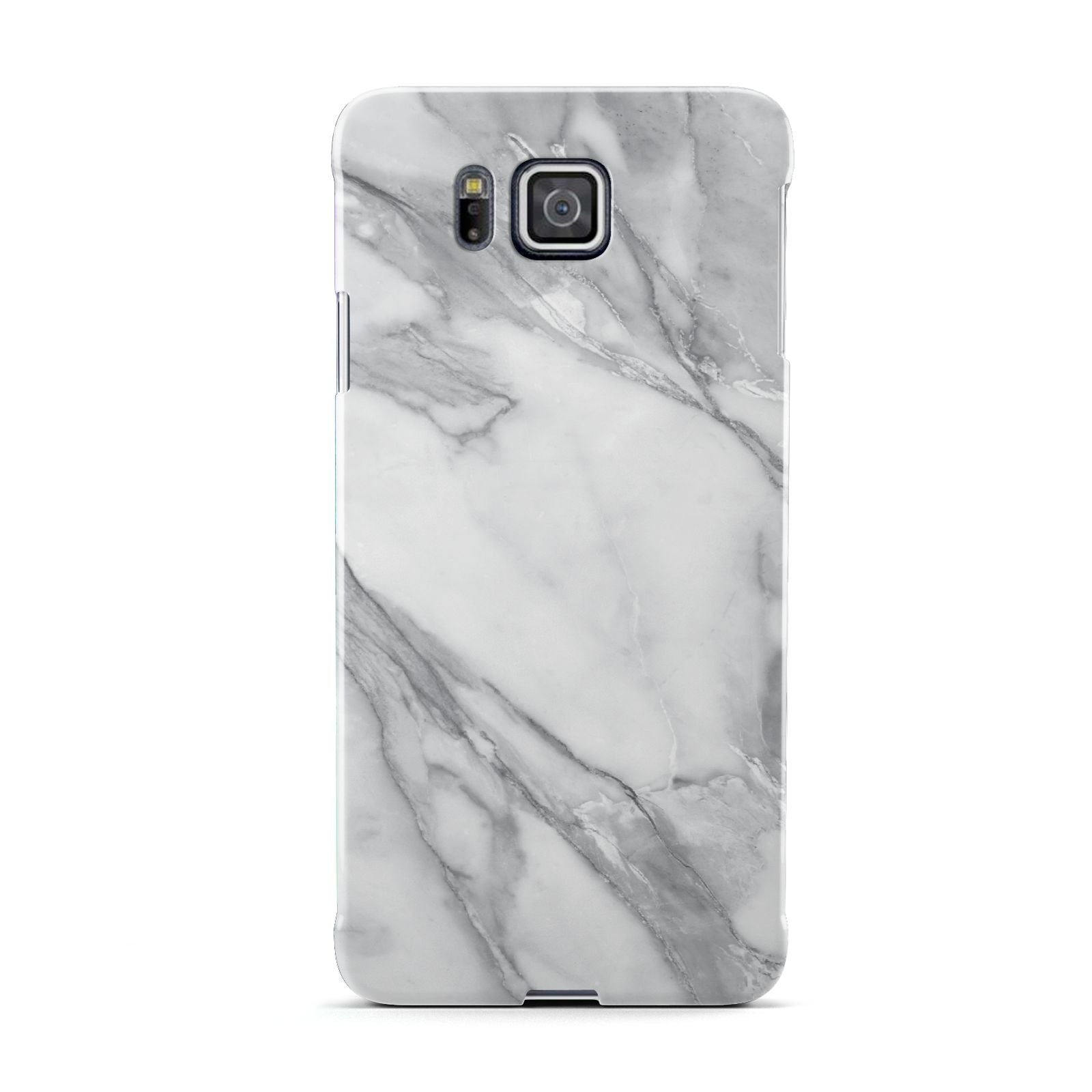 Faux Marble Effect White Grey Samsung Galaxy Alpha Case