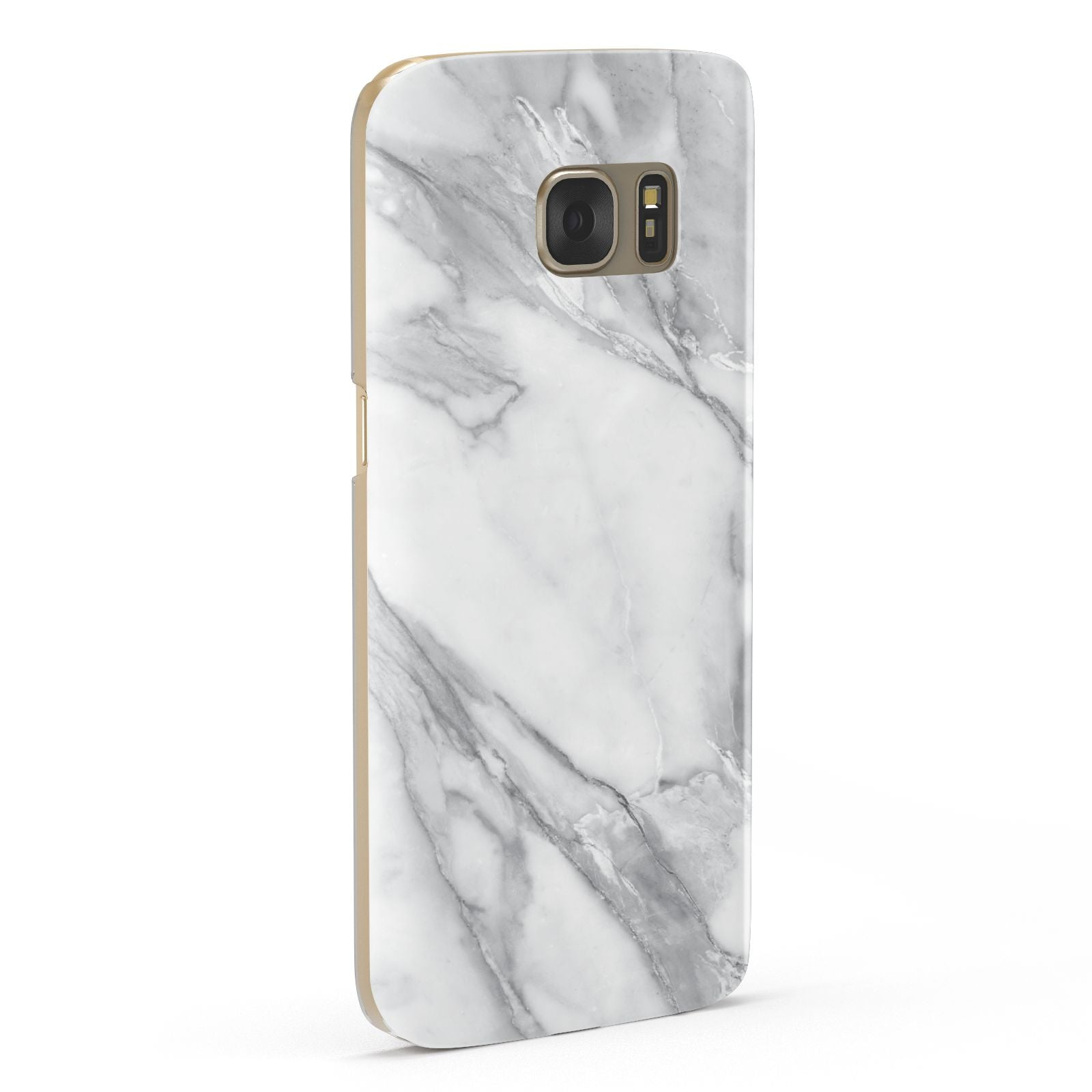 Faux Marble Effect White Grey Samsung Galaxy Case Fourty Five Degrees