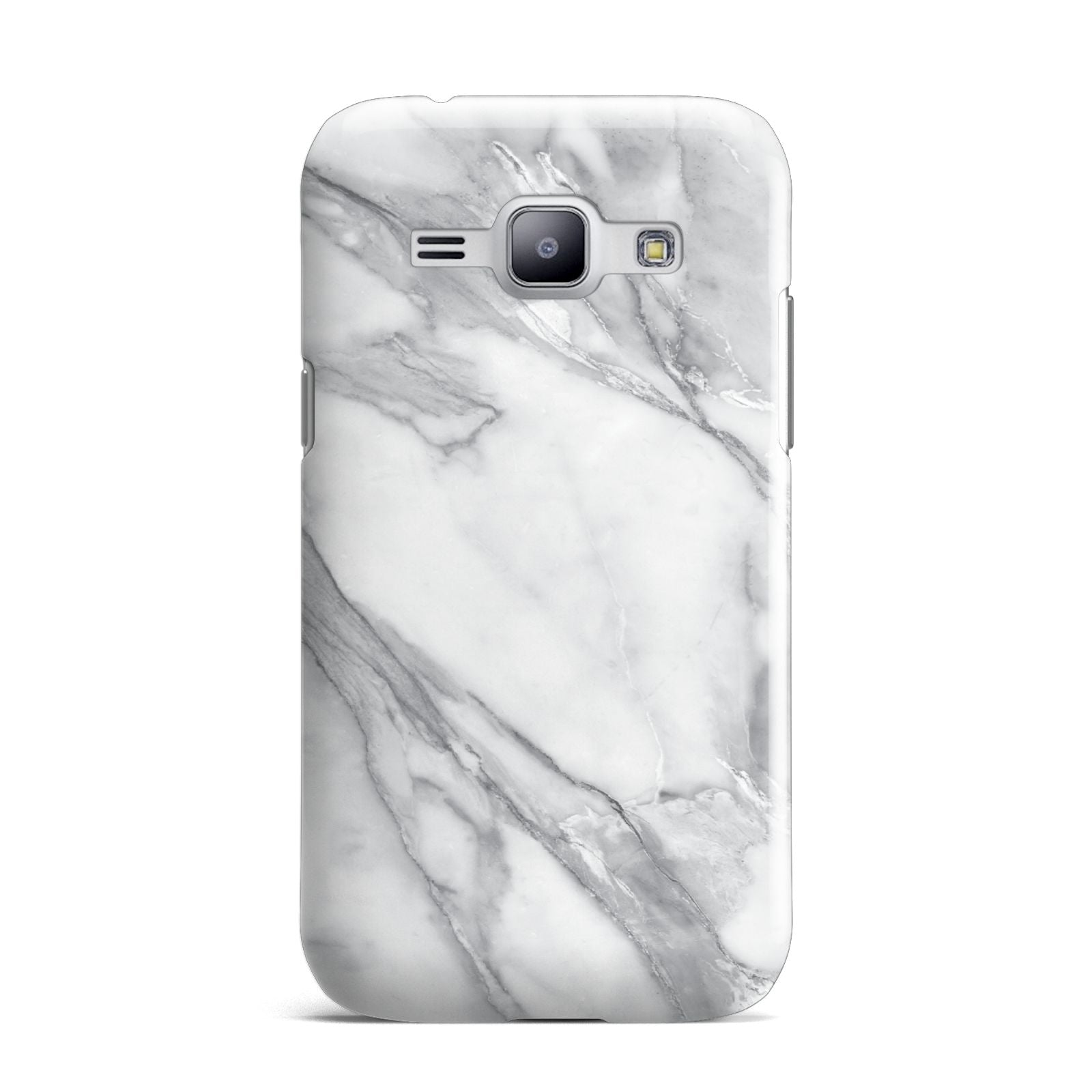 Faux Marble Effect White Grey Samsung Galaxy J1 2015 Case