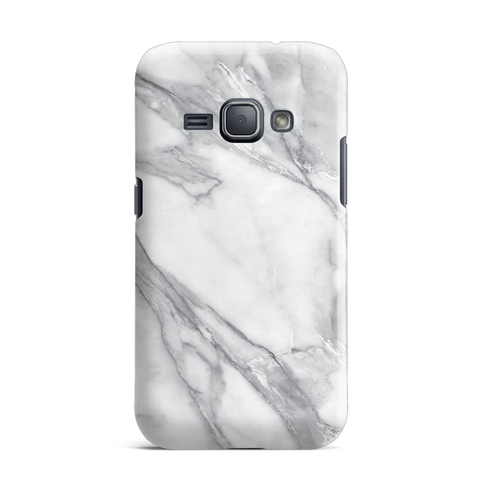 Faux Marble Effect White Grey Samsung Galaxy J1 2016 Case