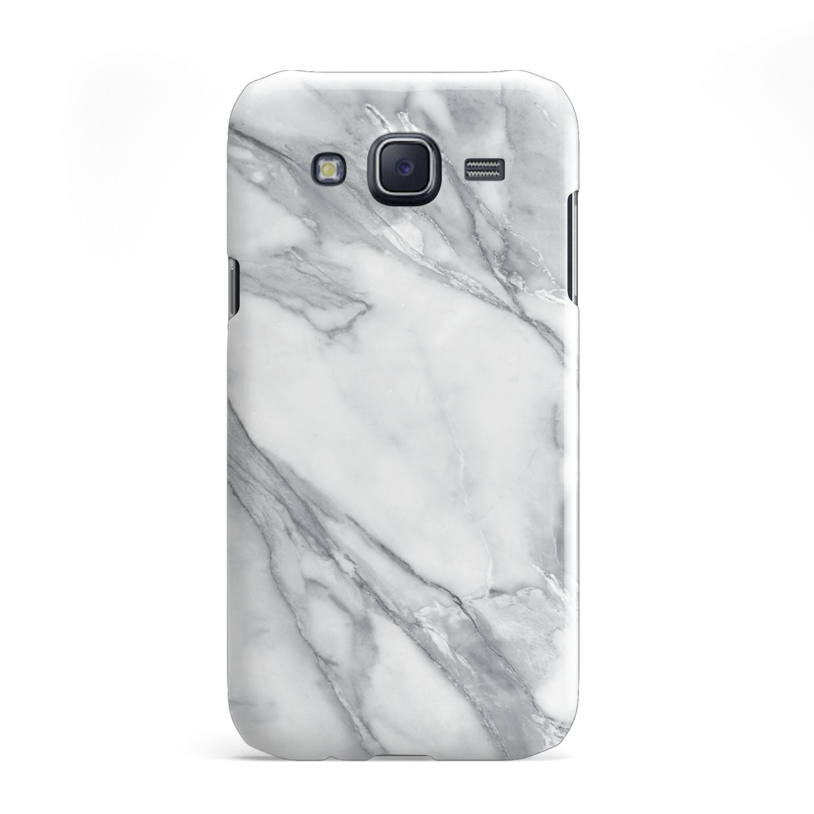 Faux Marble Effect White Grey Samsung Galaxy J5 Case