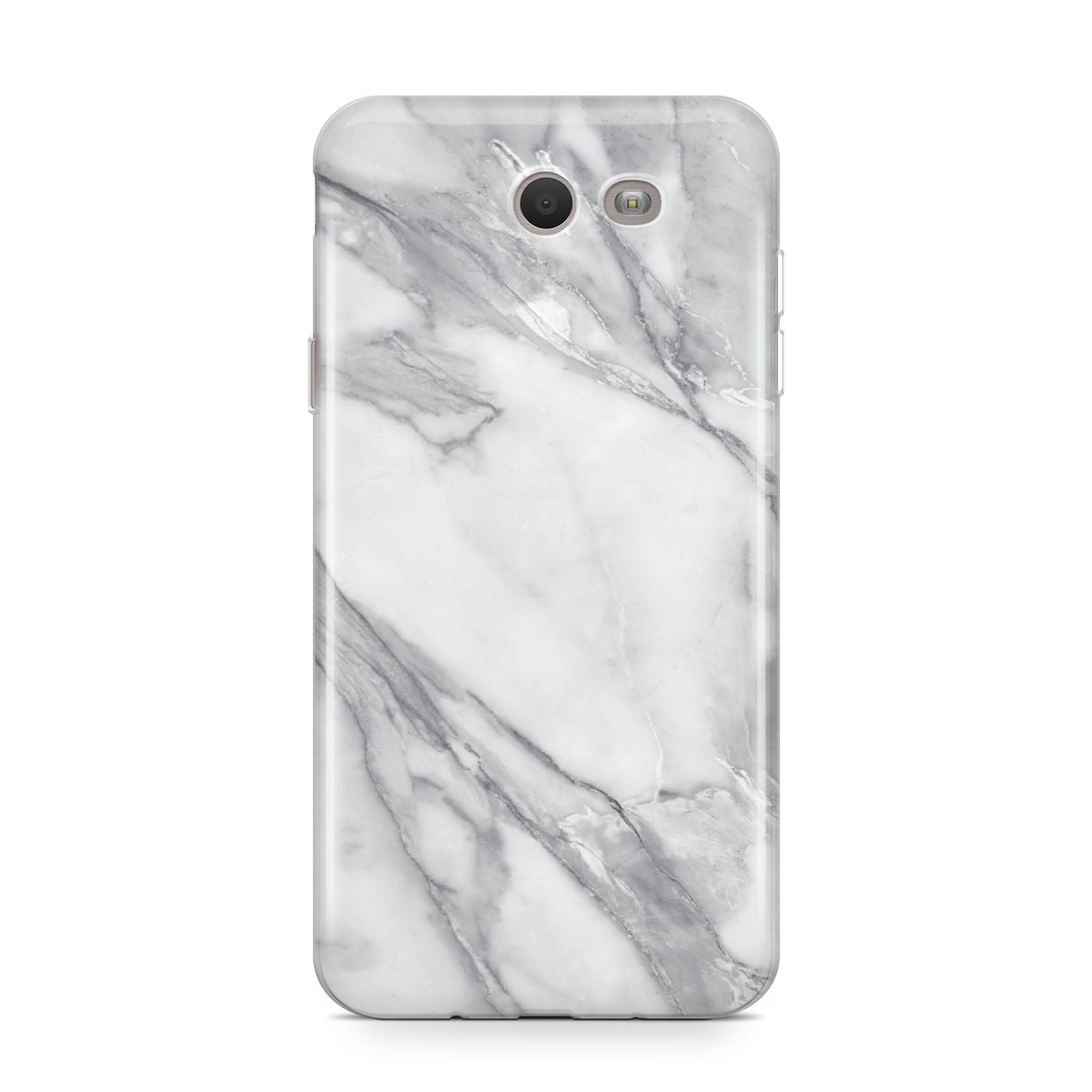 Faux Marble Effect White Grey Samsung Galaxy J7 2017 Case