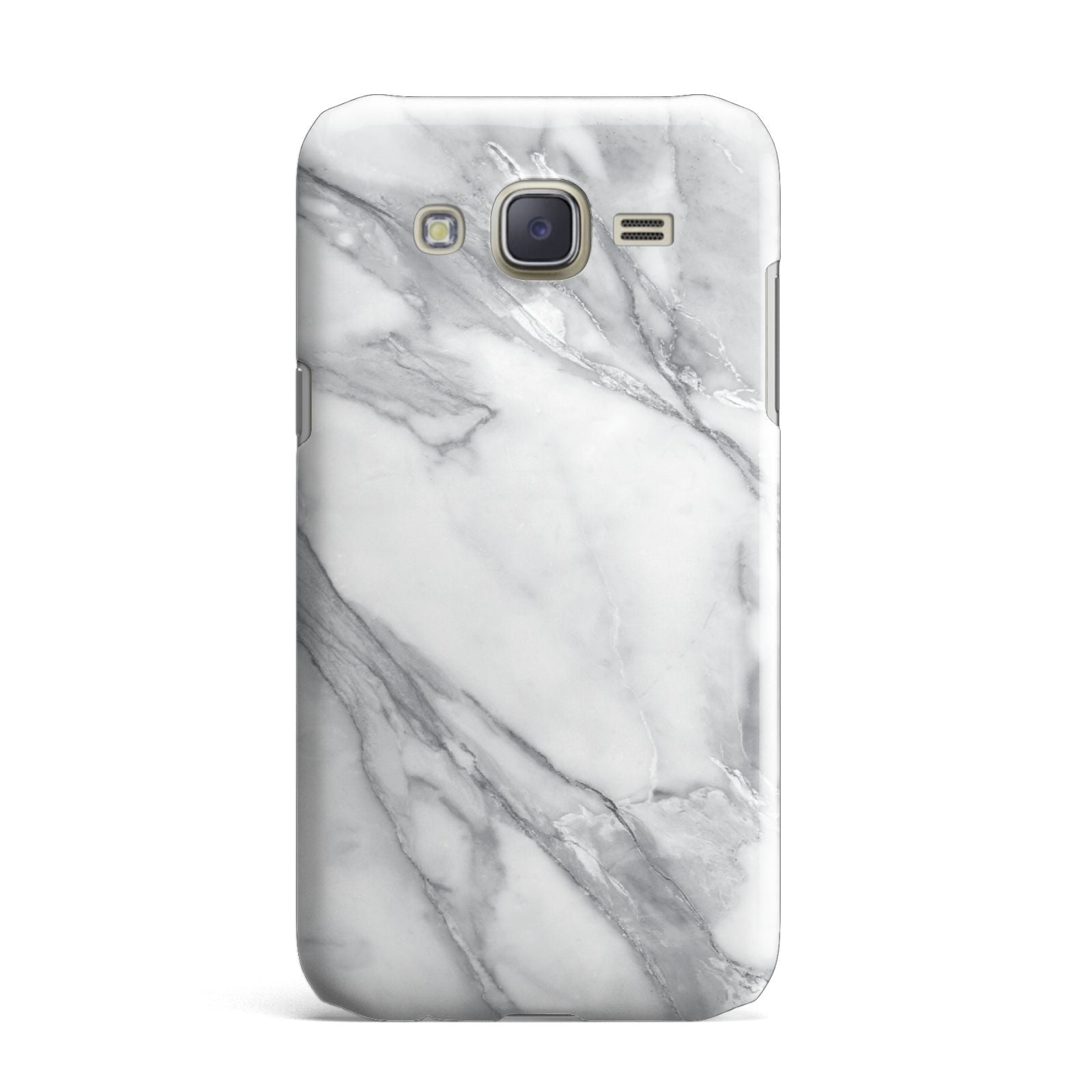 Faux Marble Effect White Grey Samsung Galaxy J7 Case
