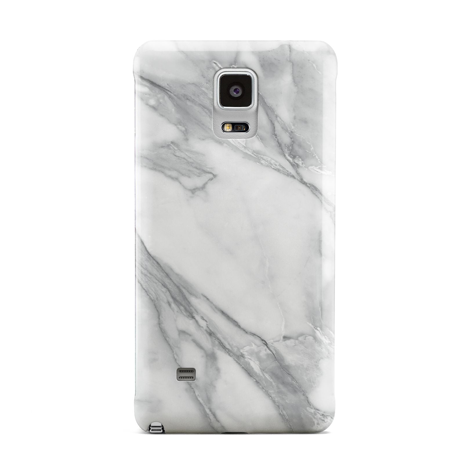 Faux Marble Effect White Grey Samsung Galaxy Note 4 Case