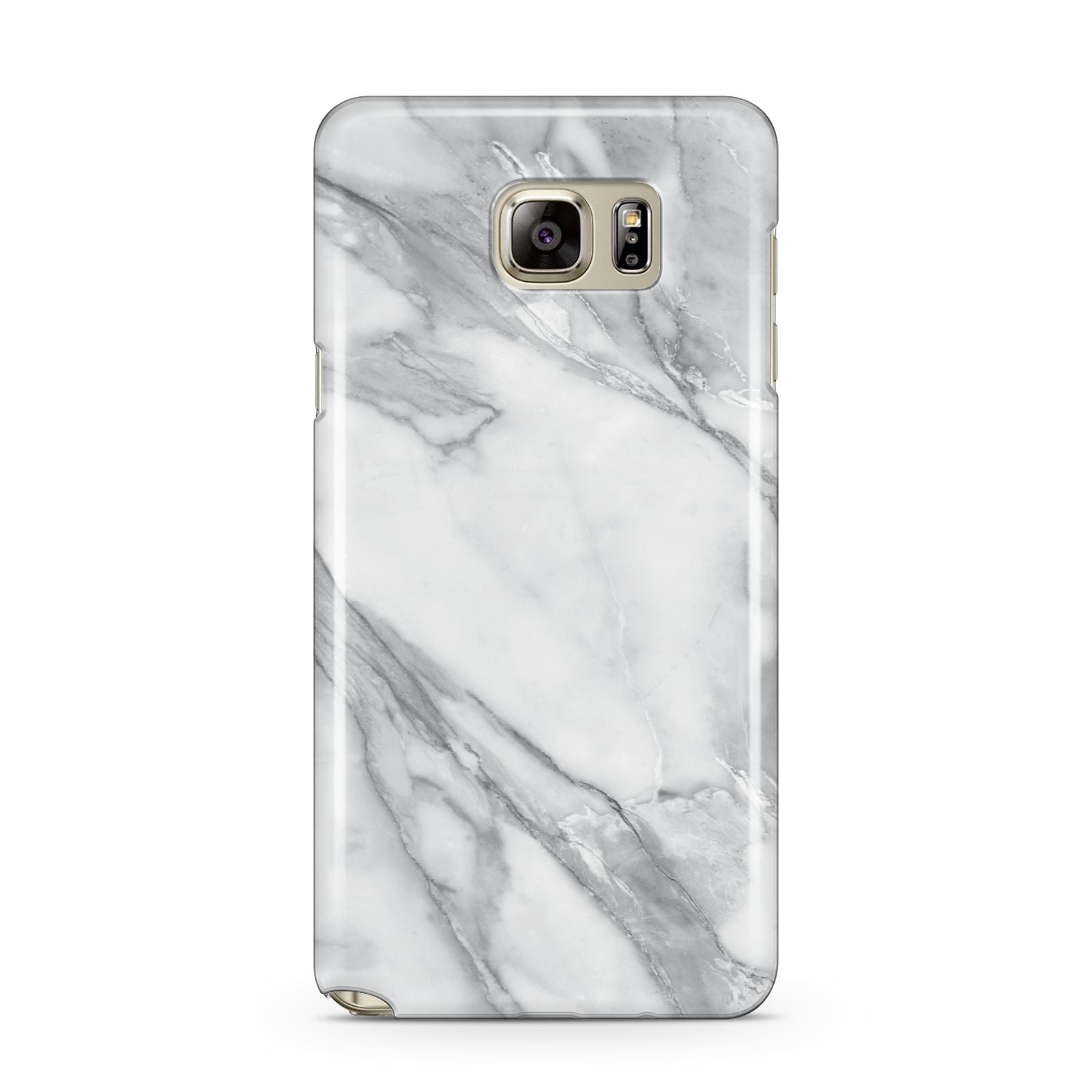 Faux Marble Effect White Grey Samsung Galaxy Note 5 Case