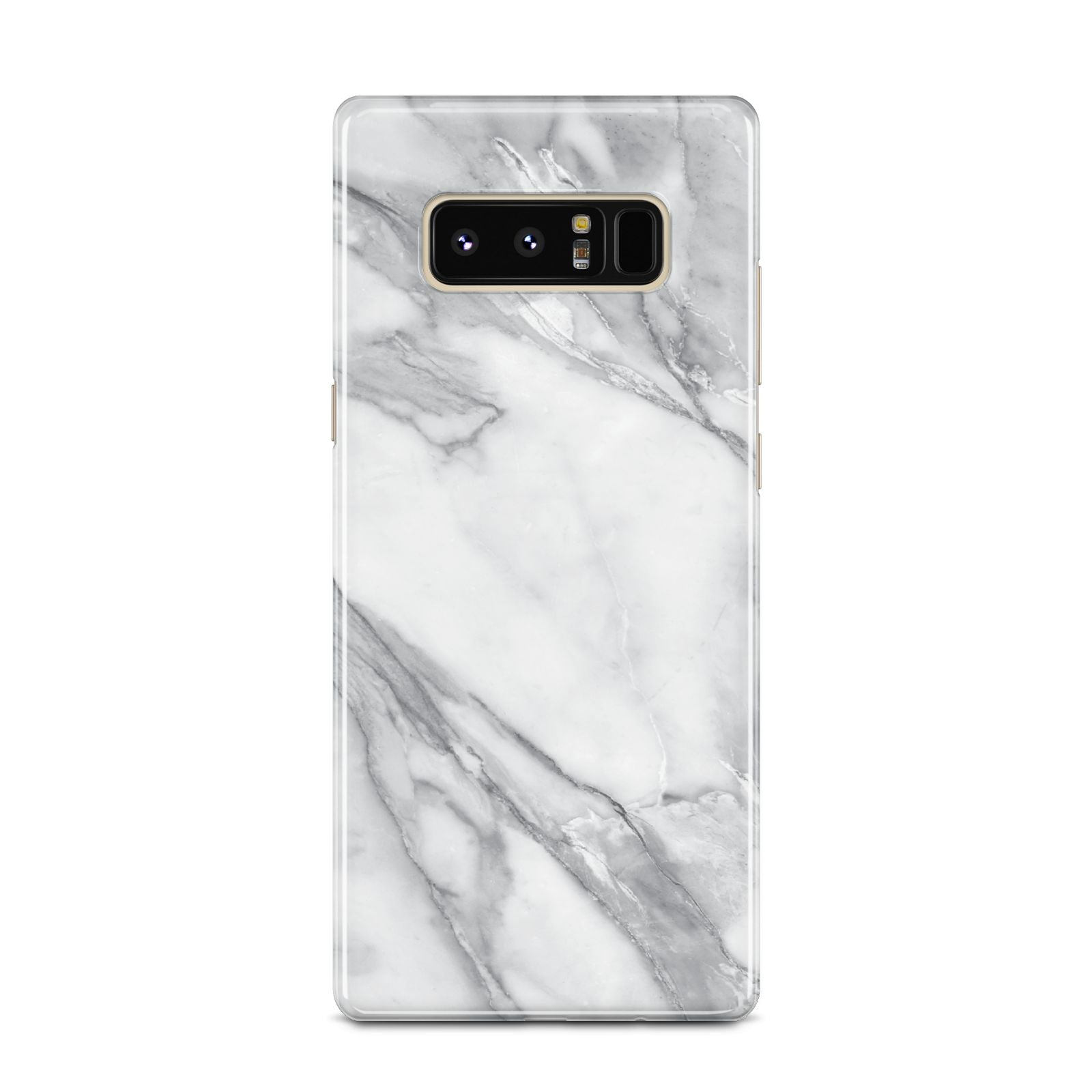 Faux Marble Effect White Grey Samsung Galaxy Note 8 Case