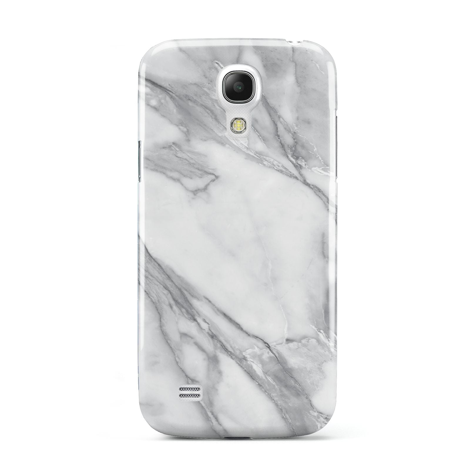 Faux Marble Effect White Grey Samsung Galaxy S4 Mini Case