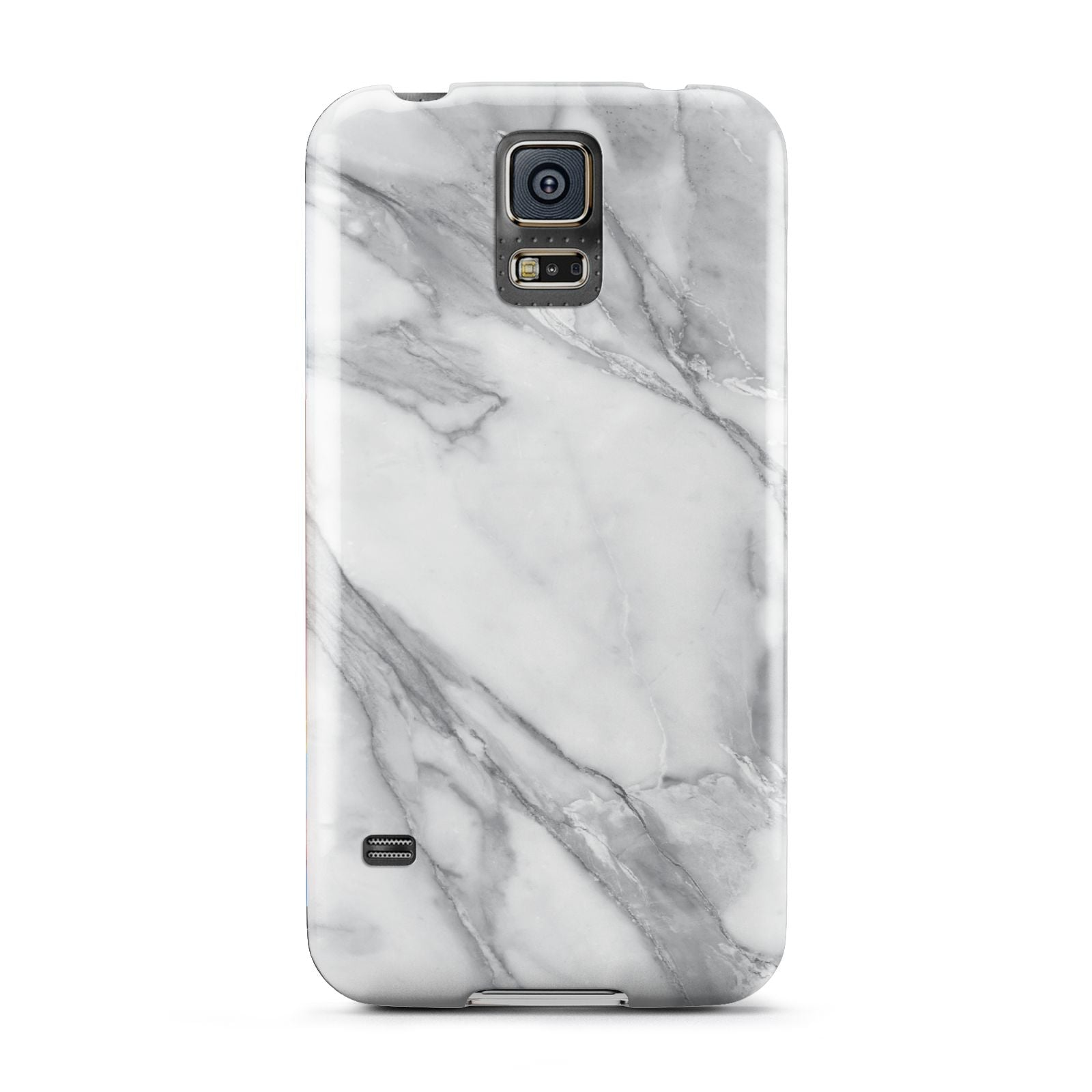 Faux Marble Effect White Grey Samsung Galaxy S5 Case