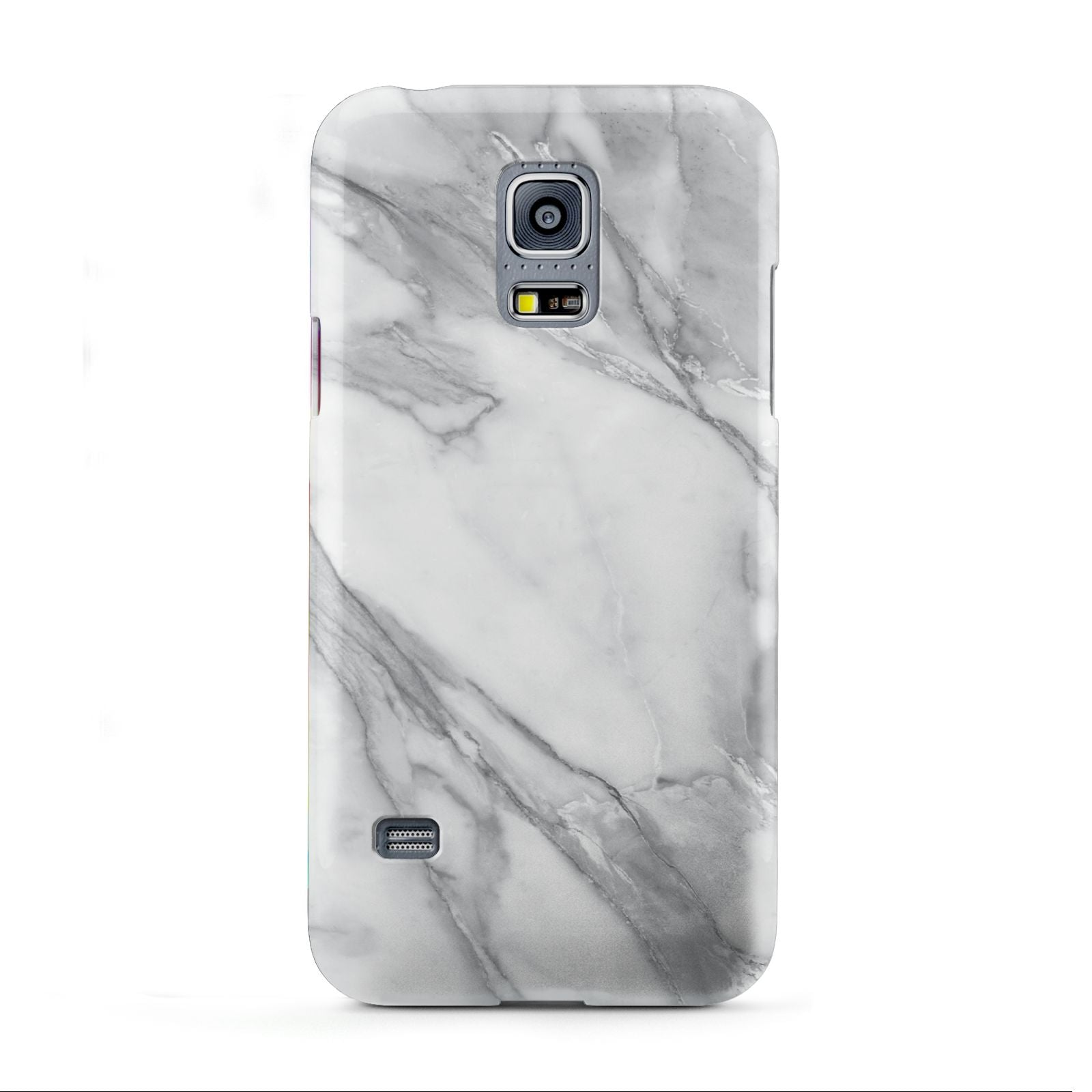 Faux Marble Effect White Grey Samsung Galaxy S5 Mini Case