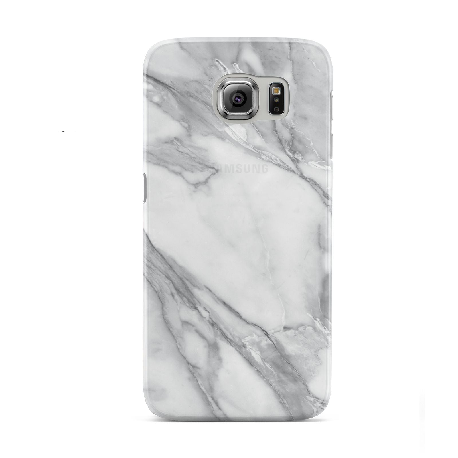 Faux Marble Effect White Grey Samsung Galaxy S6 Case