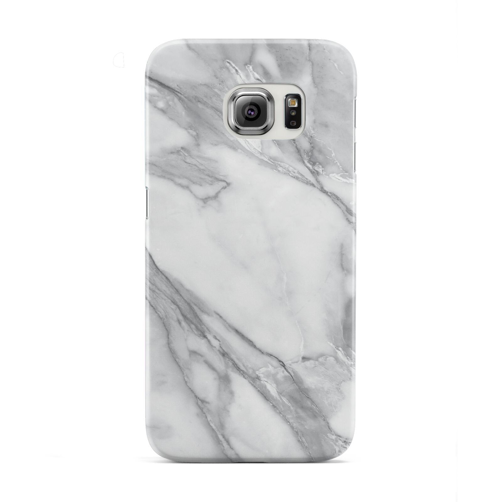 Faux Marble Effect White Grey Samsung Galaxy S6 Edge Case