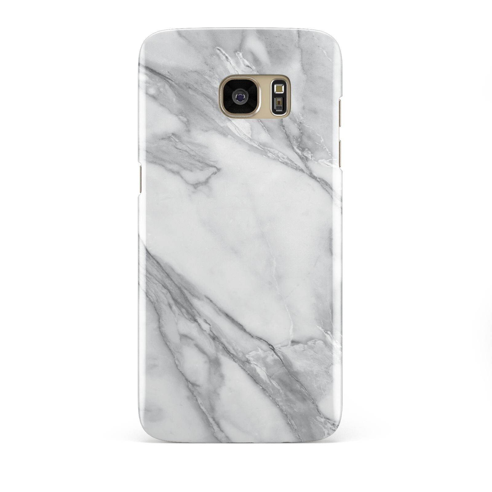 Faux Marble Effect White Grey Samsung Galaxy S7 Edge Case