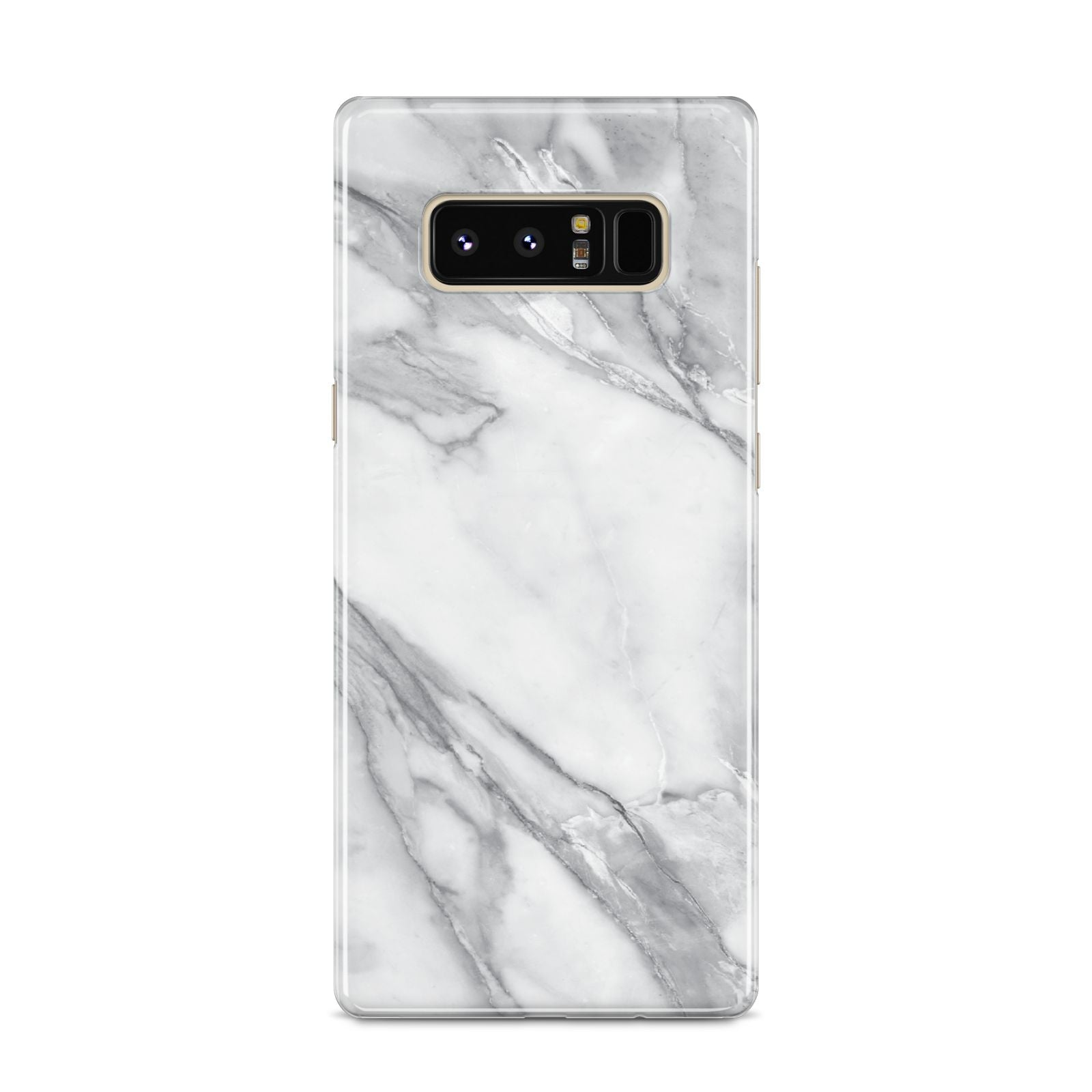 Faux Marble Effect White Grey Samsung Galaxy S8 Case