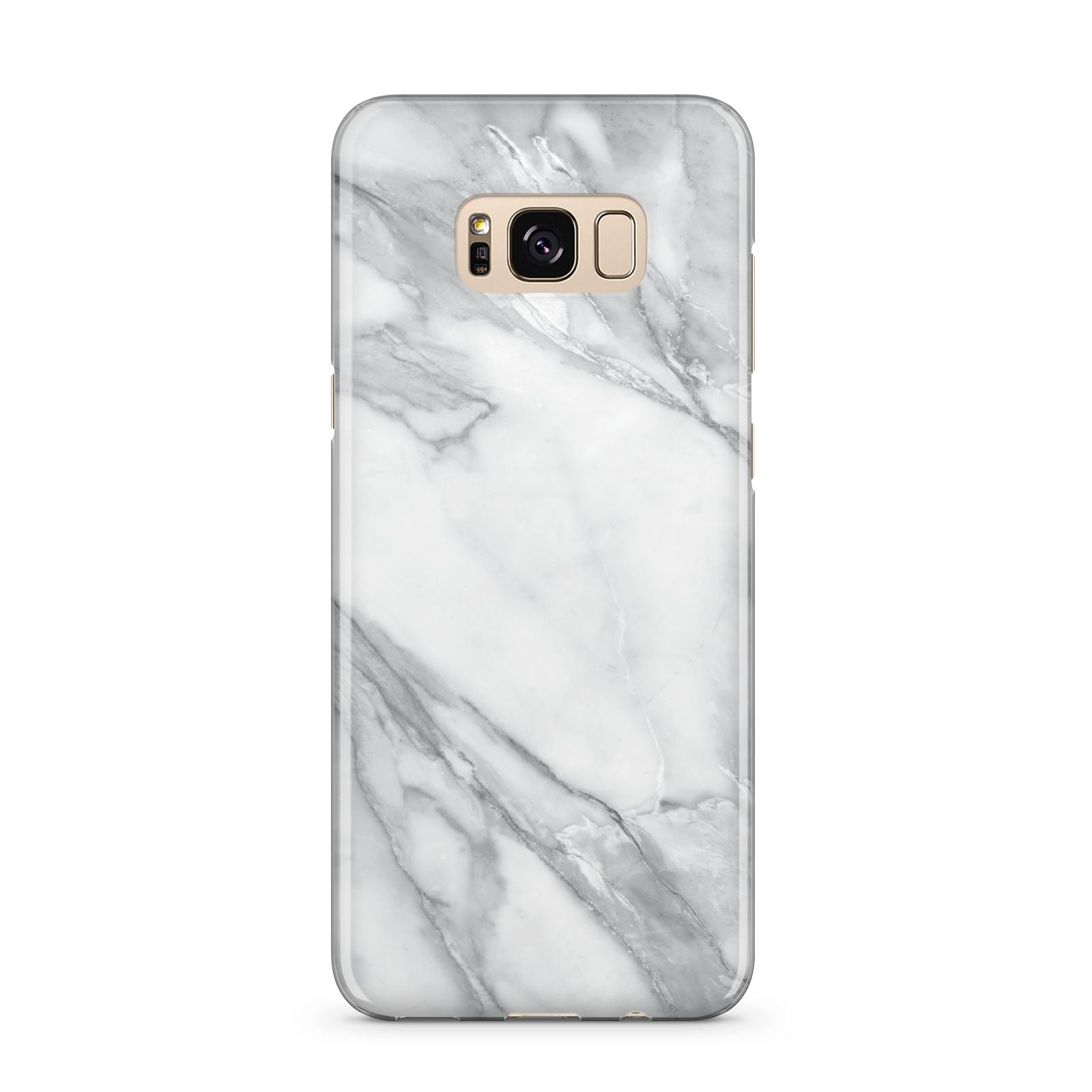 Faux Marble Effect White Grey Samsung Galaxy S8 Plus Case