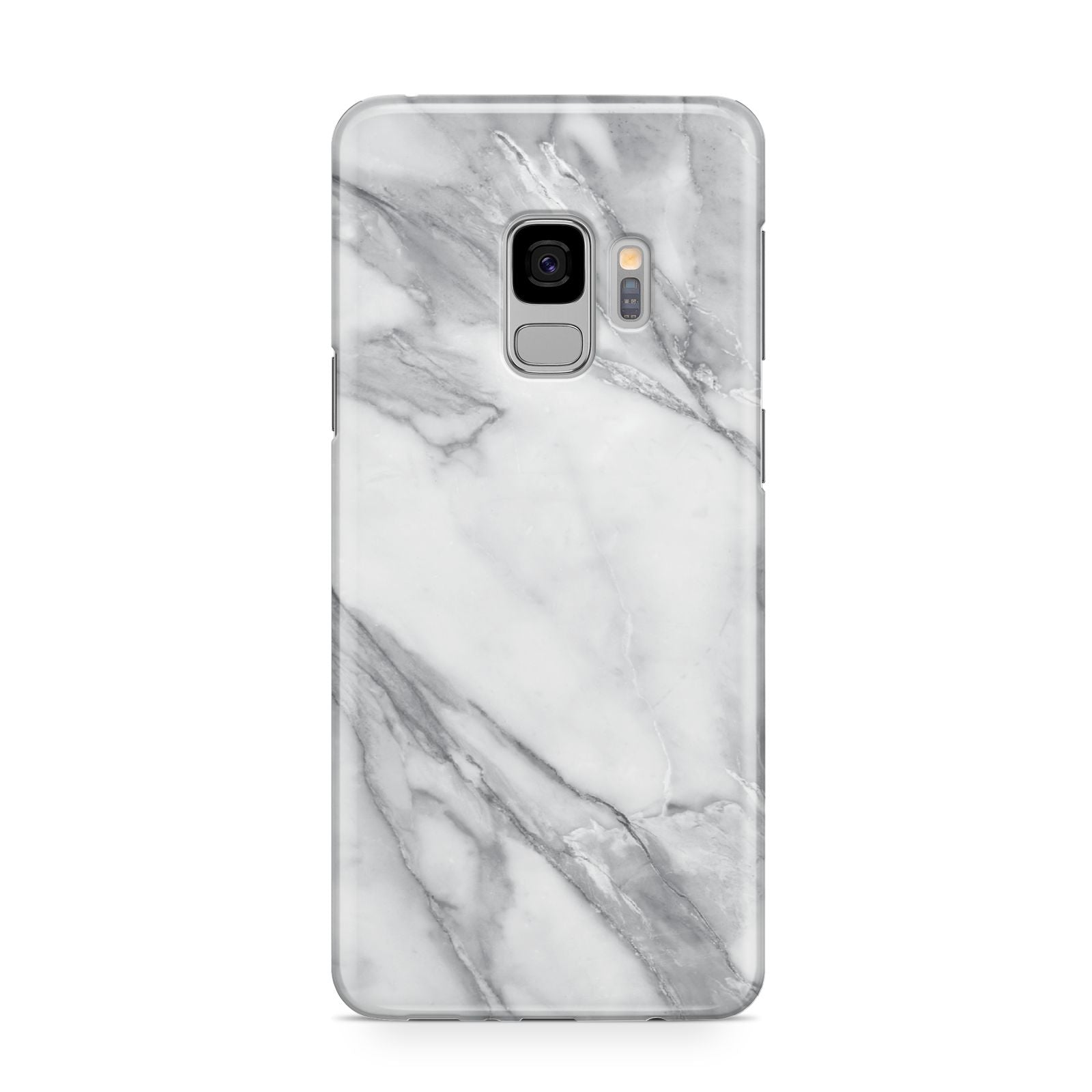Faux Marble Effect White Grey Samsung Galaxy S9 Case