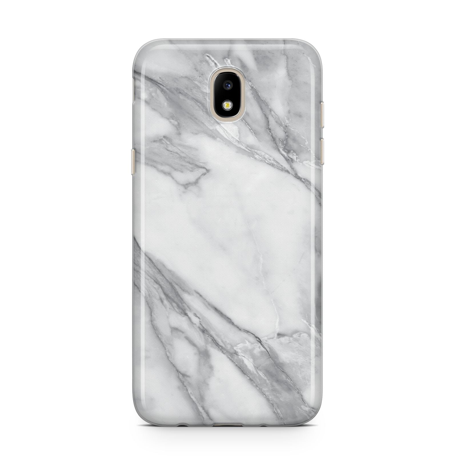 Faux Marble Effect White Grey Samsung J5 2017 Case