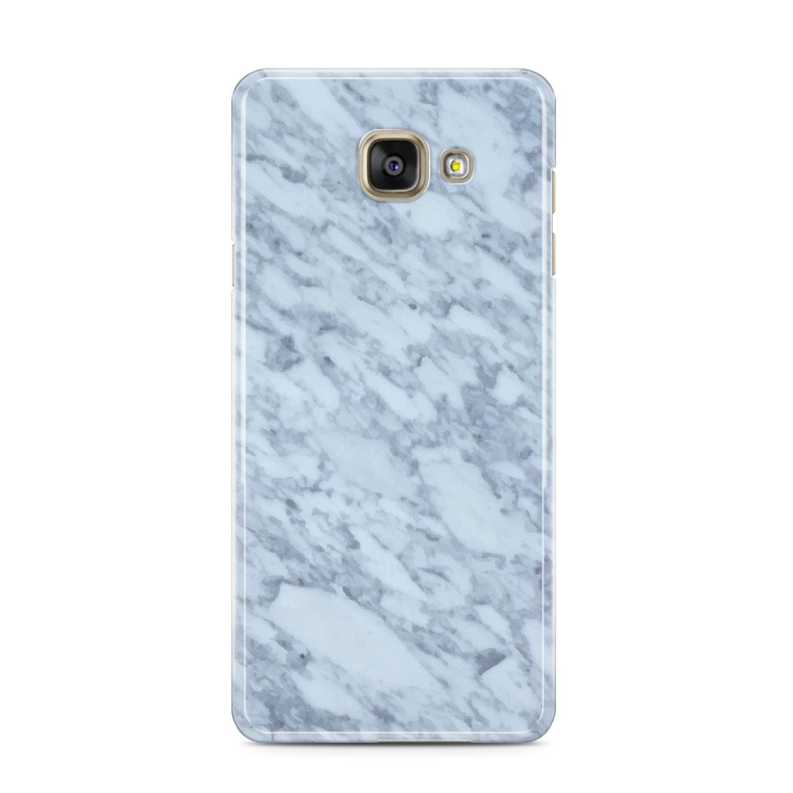 Faux Marble Grey 2 Samsung Galaxy A3 2016 Case on gold phone