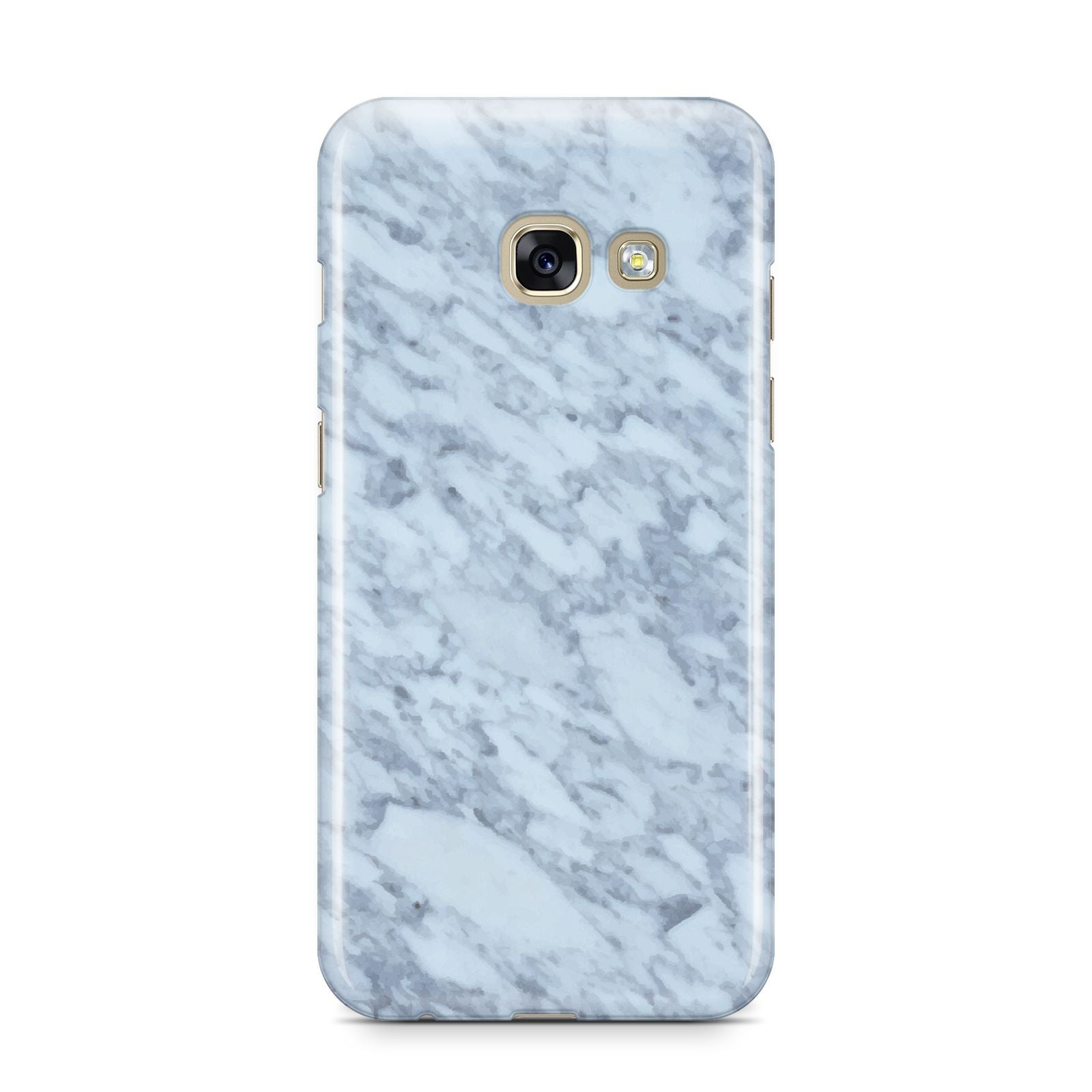 Faux Marble Grey 2 Samsung Galaxy A3 2017 Case on gold phone