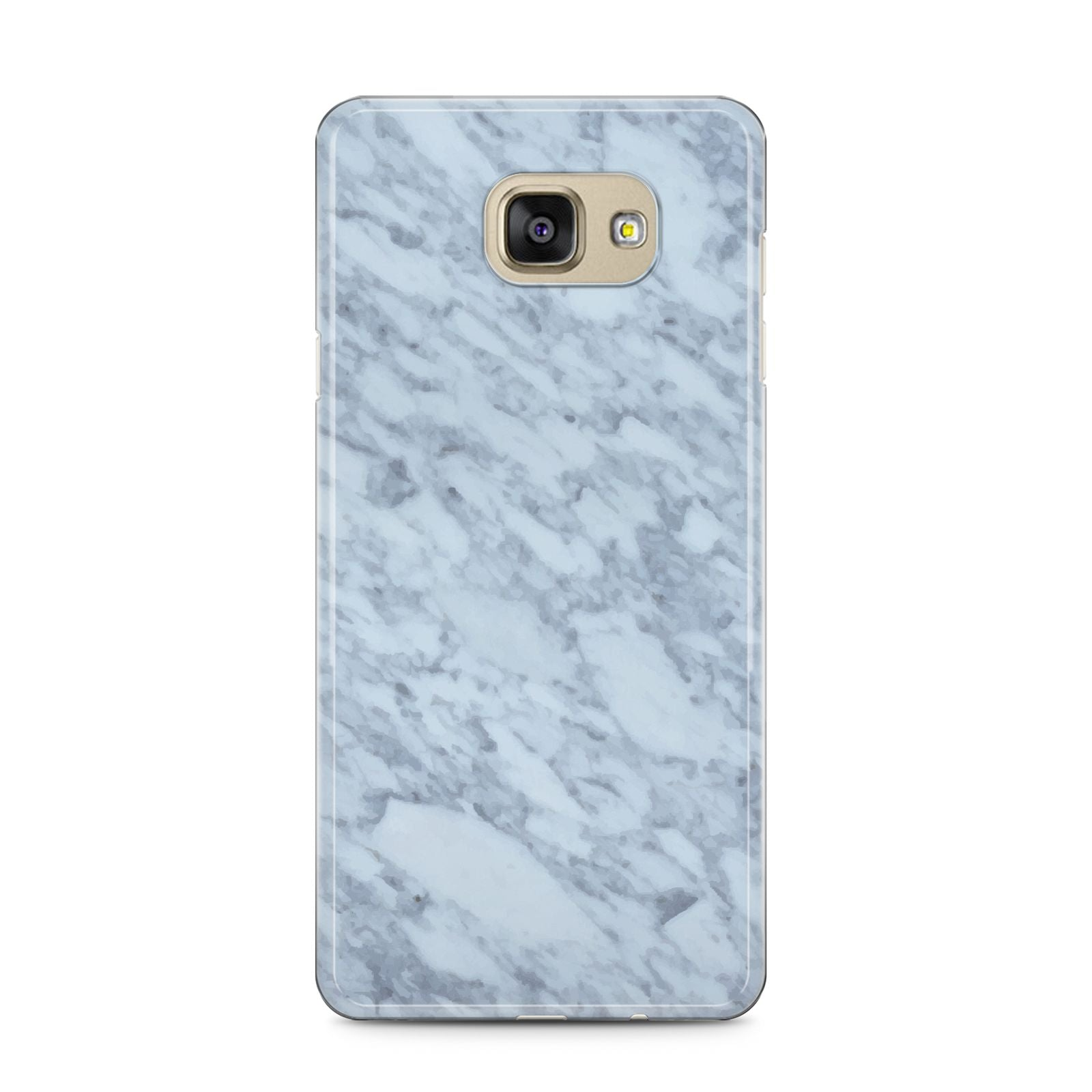 Faux Marble Grey 2 Samsung Galaxy A5 2016 Case on gold phone