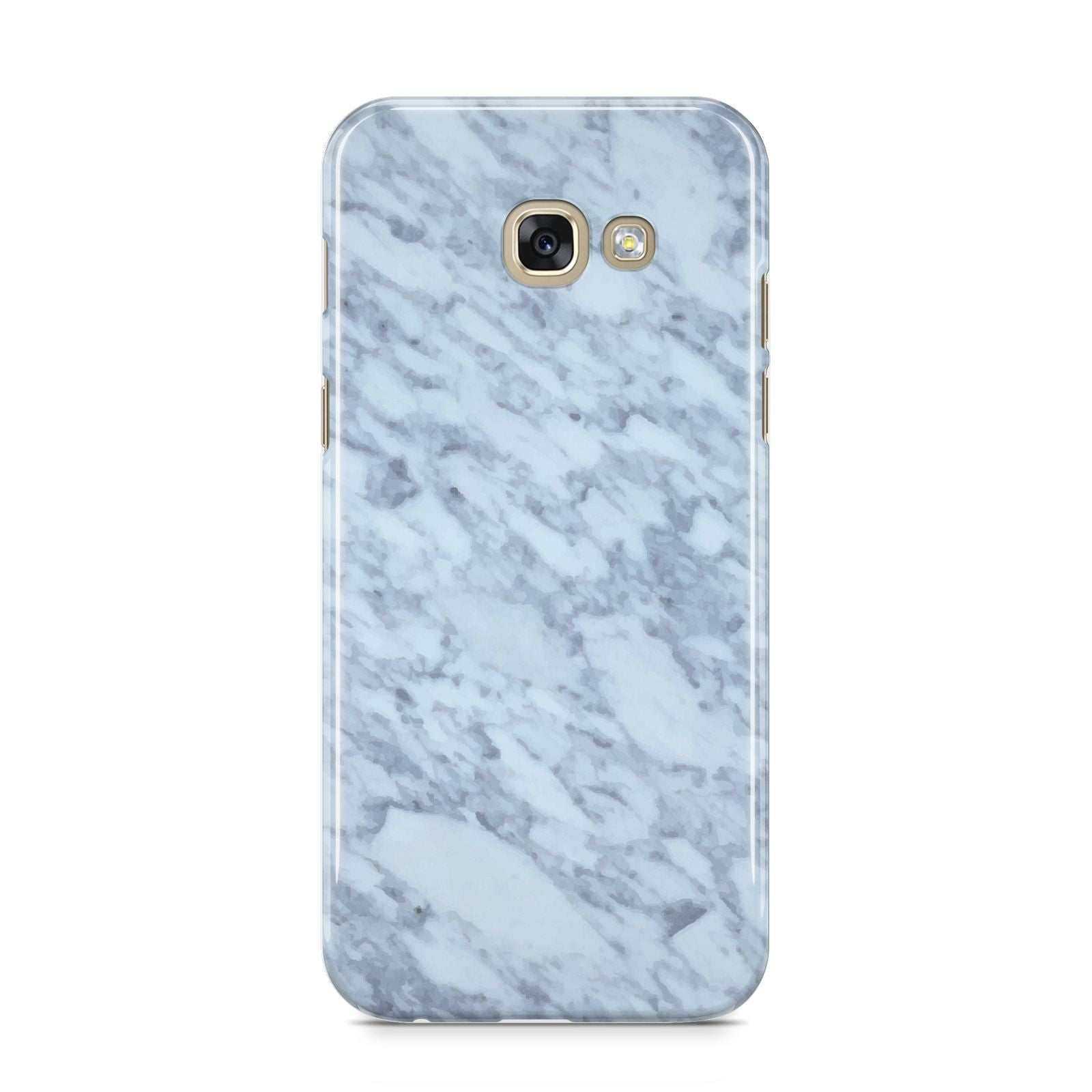 Faux Marble Grey 2 Samsung Galaxy A5 2017 Case on gold phone